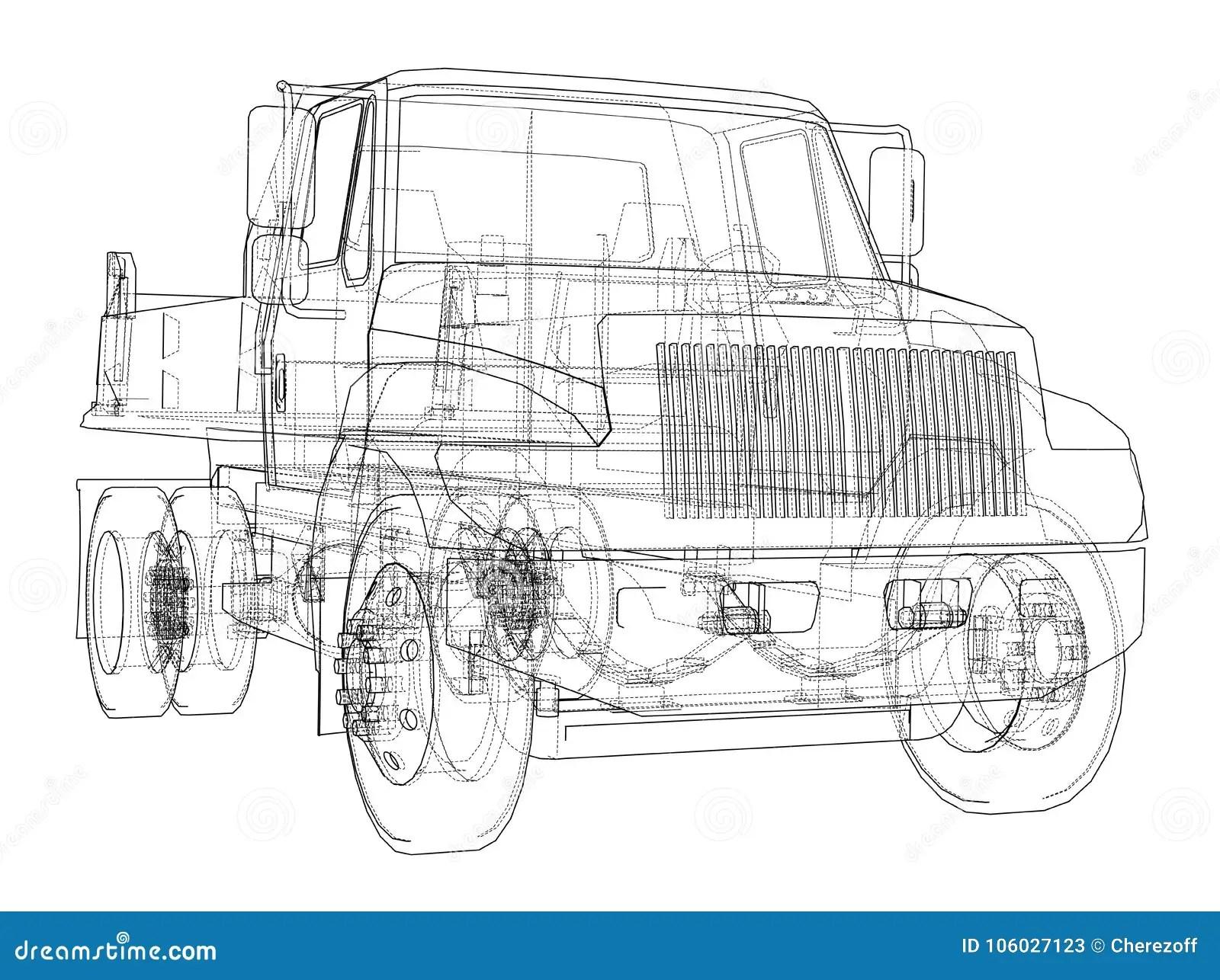 Dump Truck Vector Stock Vector Illustration Of Cargo