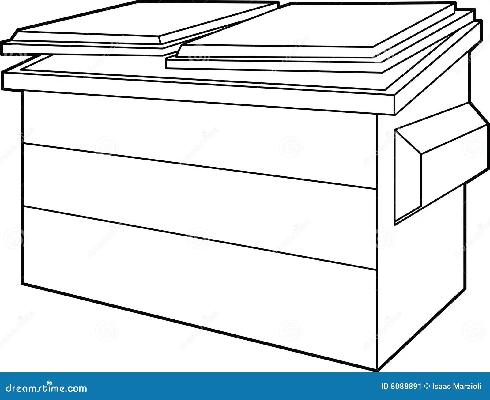 Dumpster Stock Vector Illustration Of Dump Black