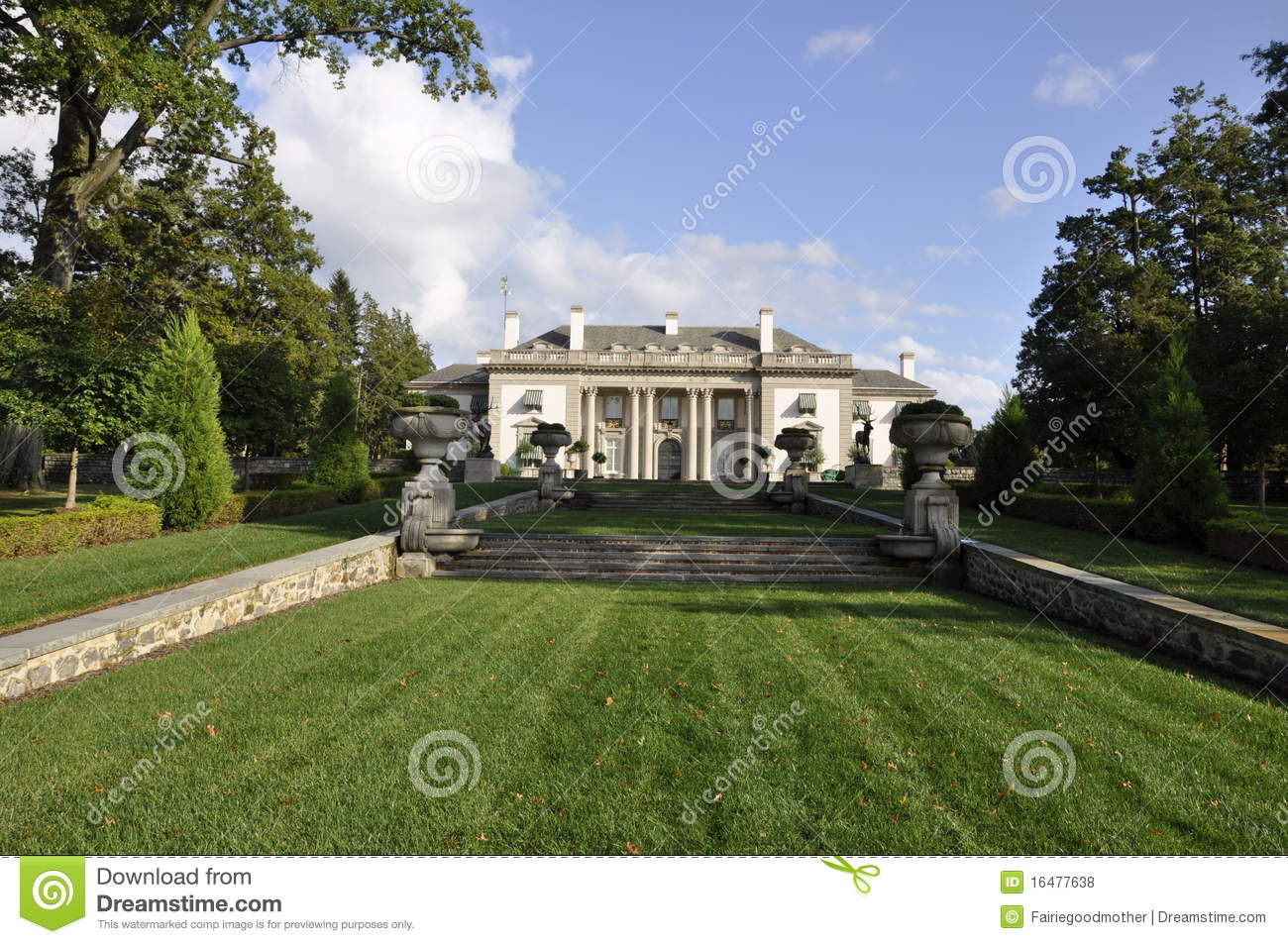 Dupont Mansion And Gardens Stock Photo Image Of House