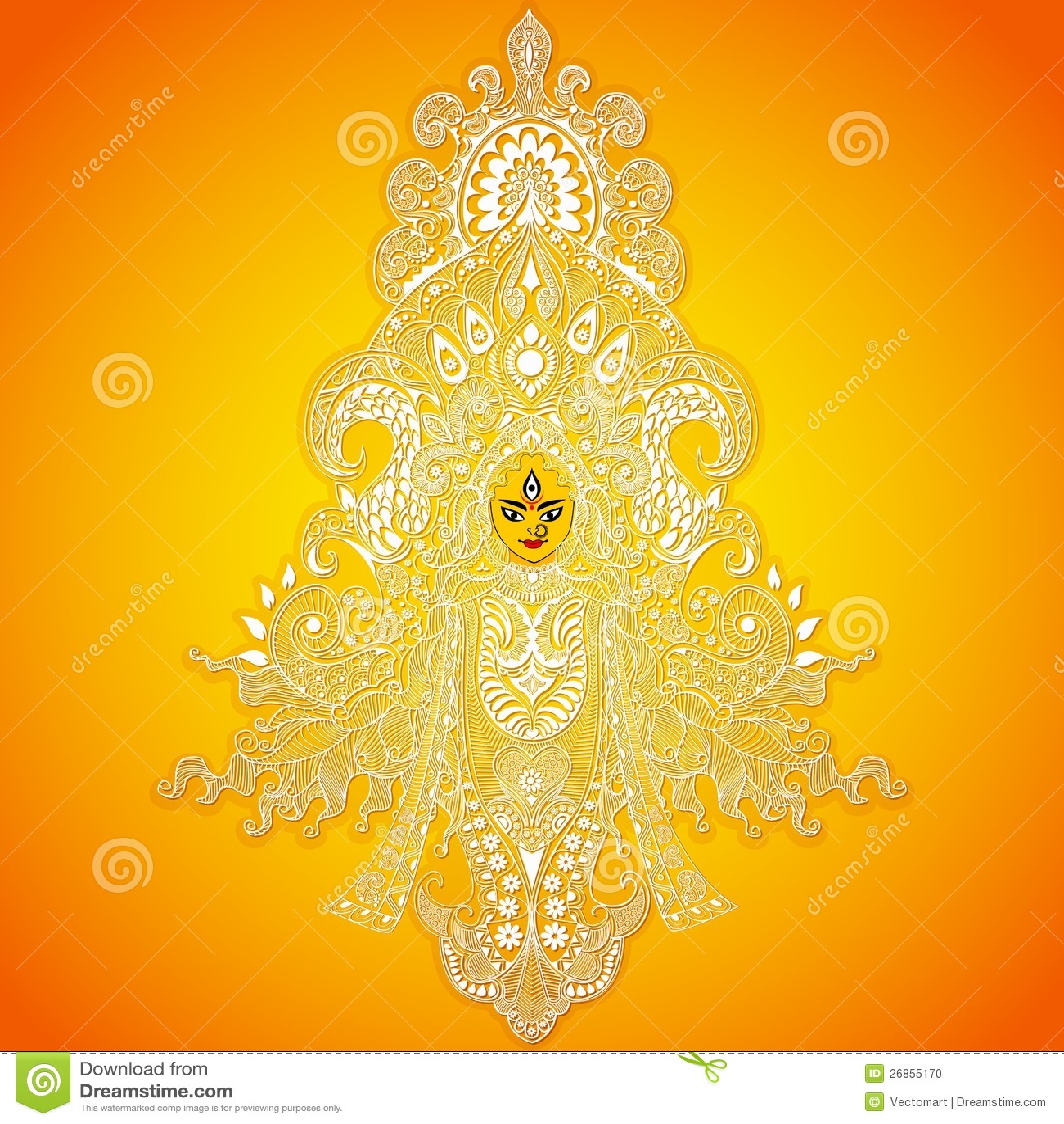 Durga Puja Stock Vector Image Of Bengal Ethnicity