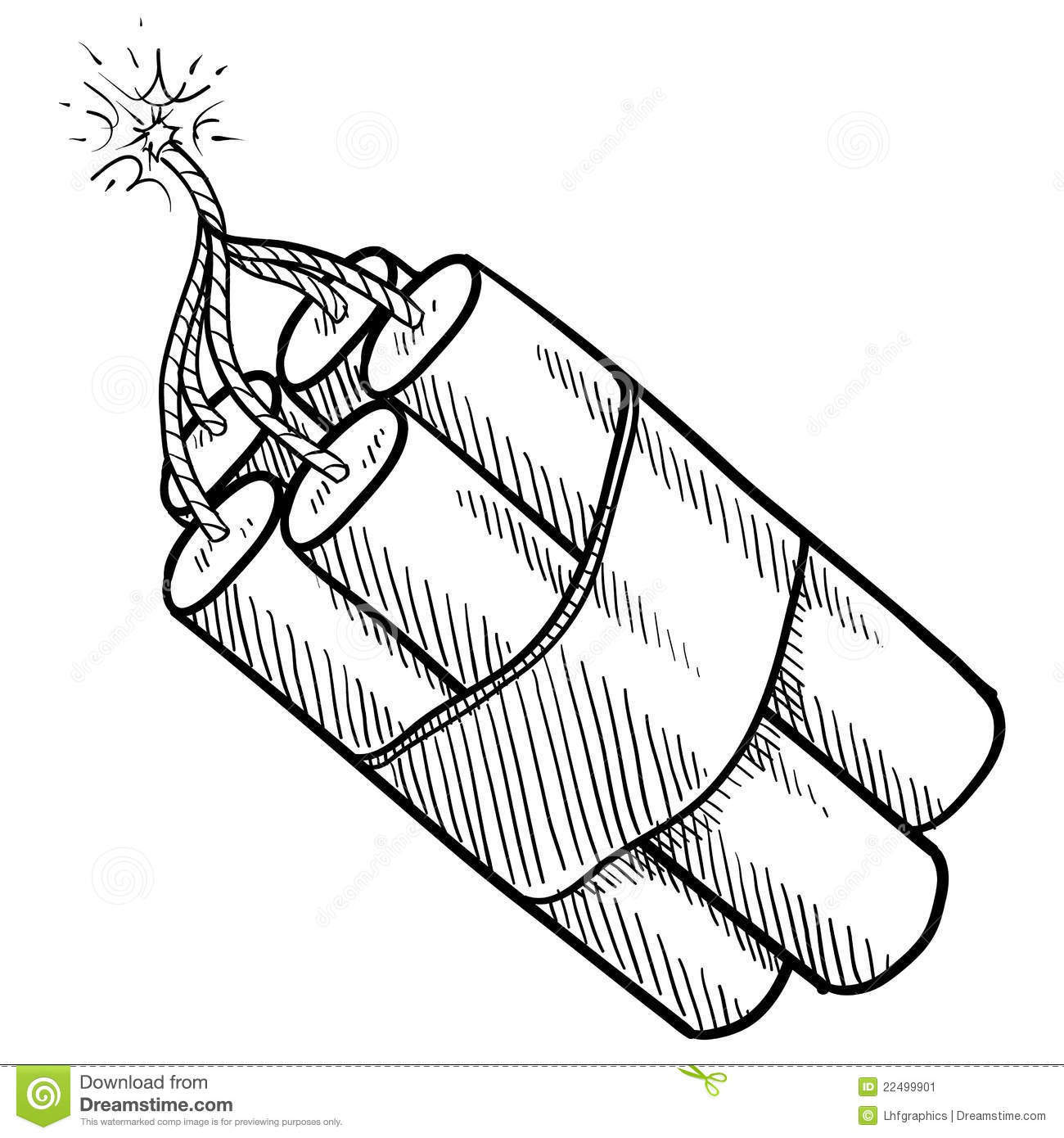 Dynamite Bundle Sketch Stock Vector Image Of Isolated
