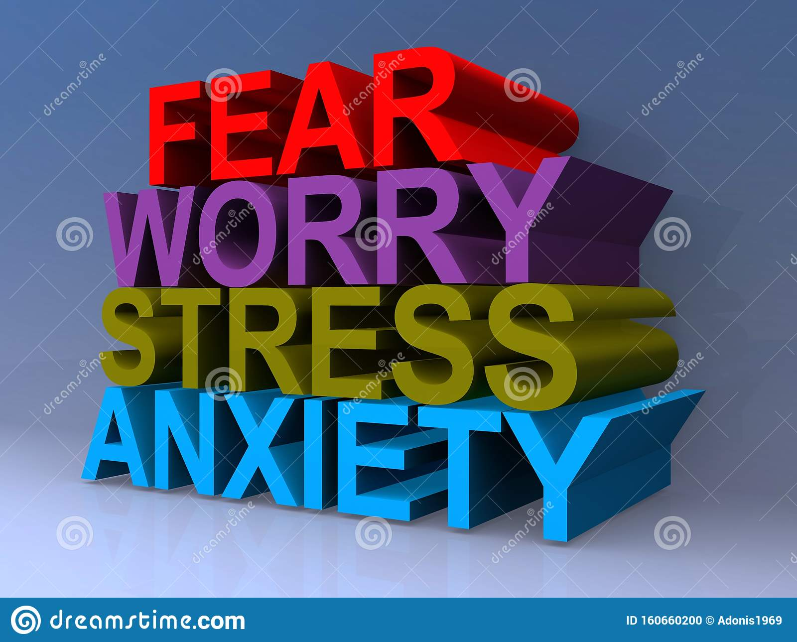 Fear Worry Stress Anxiety