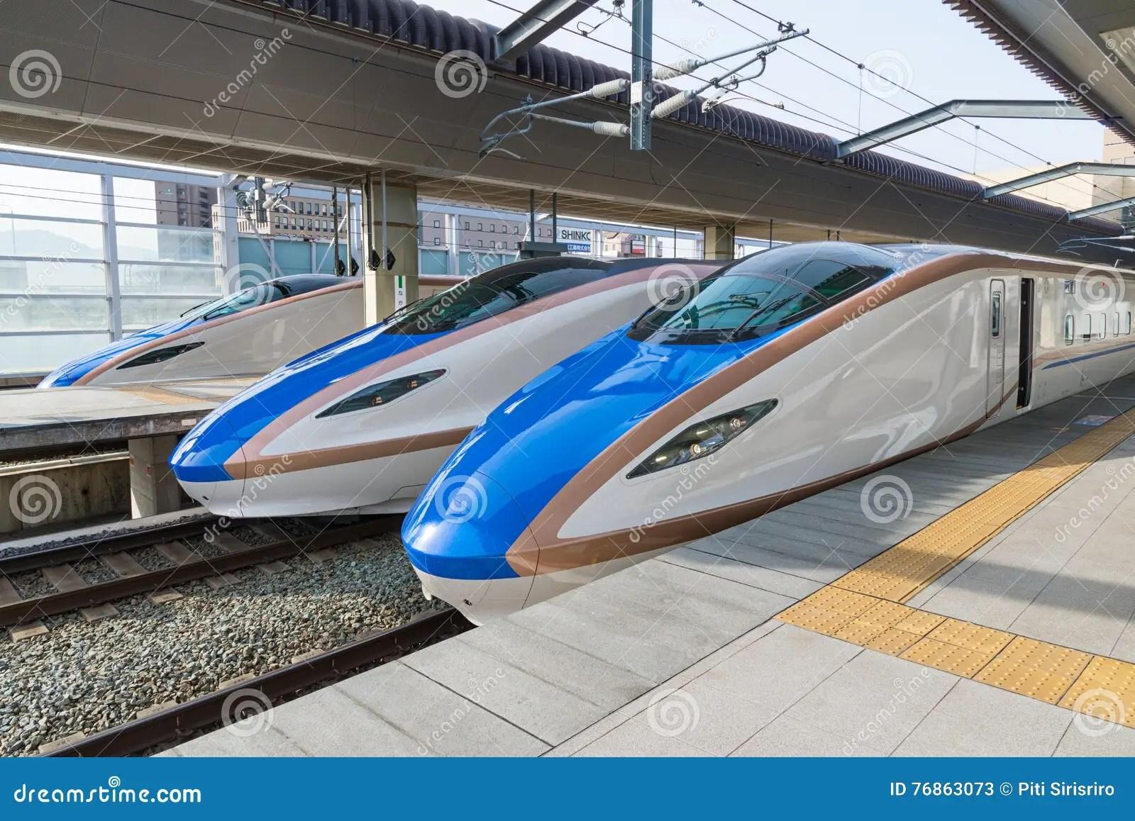 E7 W7 Series Bullet High Speed Or Shinkansen Trains Editorial Stock Photo
