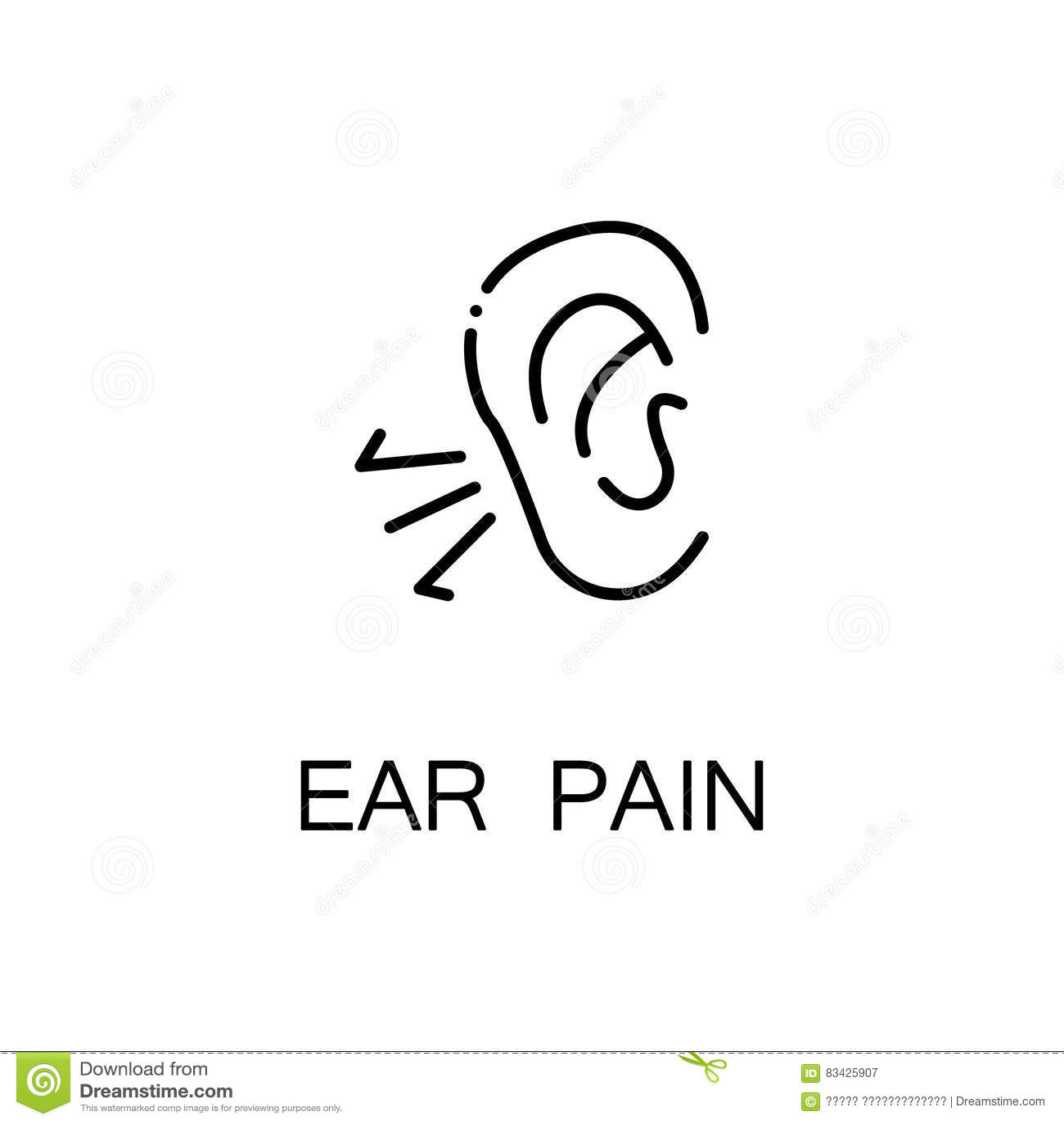 Nose Eye Mouth Ear Pictogram Vector Illustration