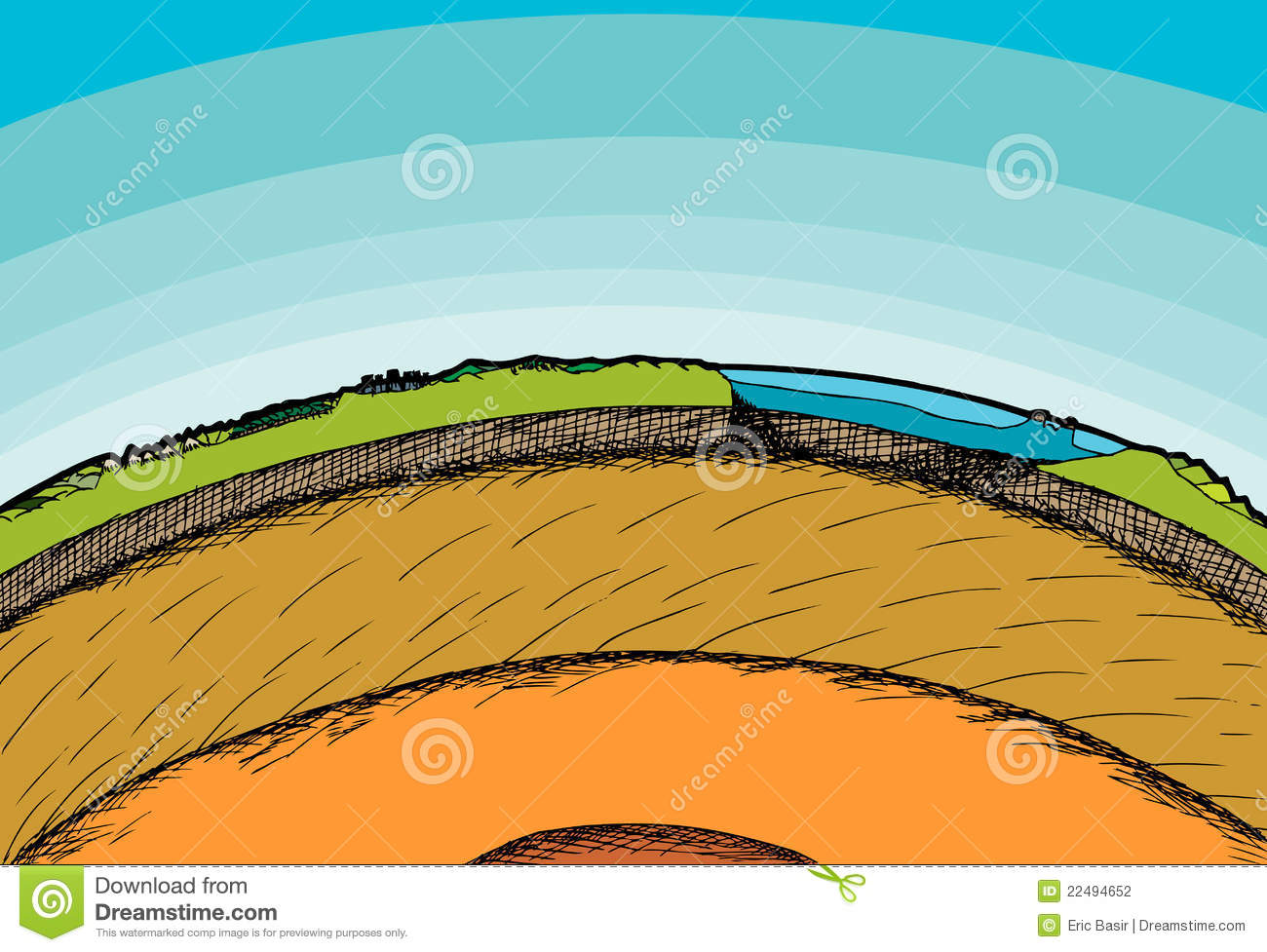Earth Cross Section Stock Vector Illustration Of Diagram