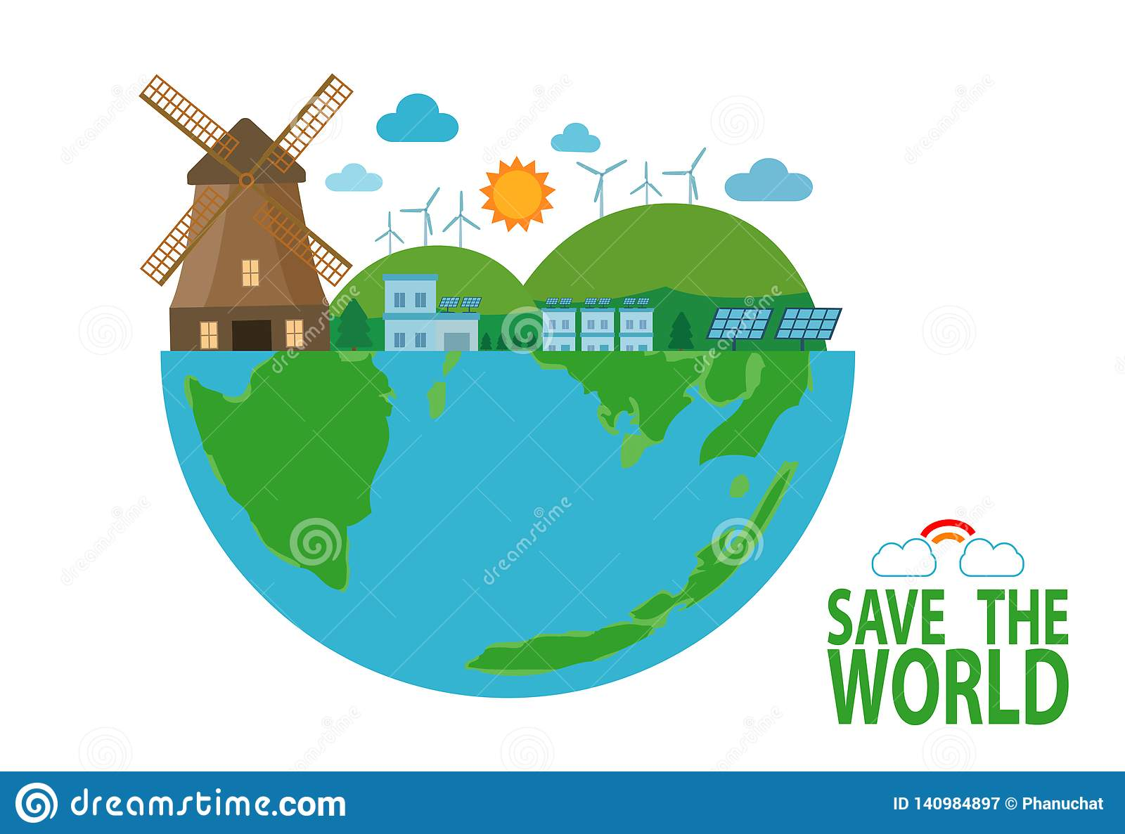 Earth Day Save The World Save Planet Recycling Eco