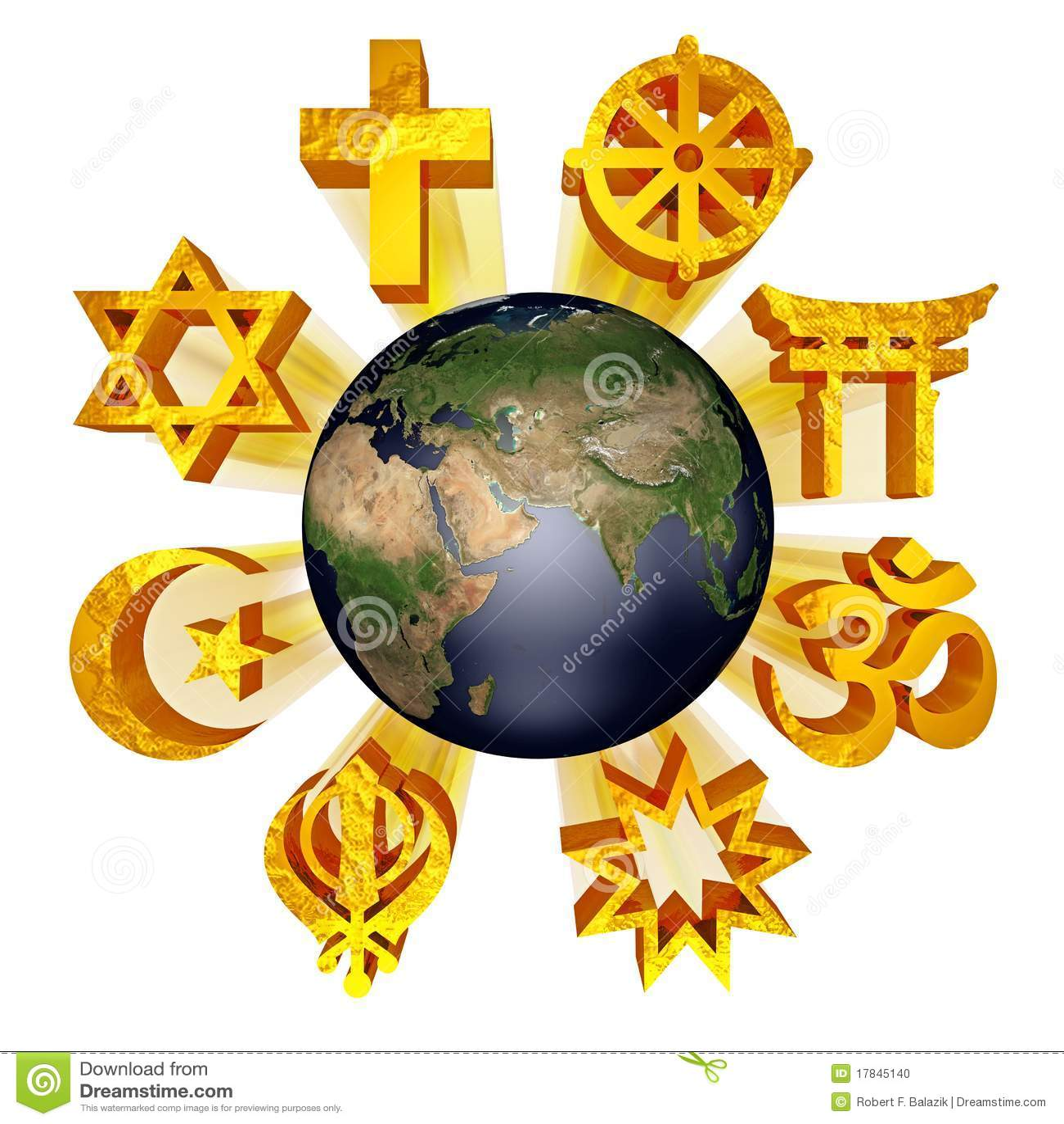 Earth Religious Symbols Stock Illustratie Illustratie