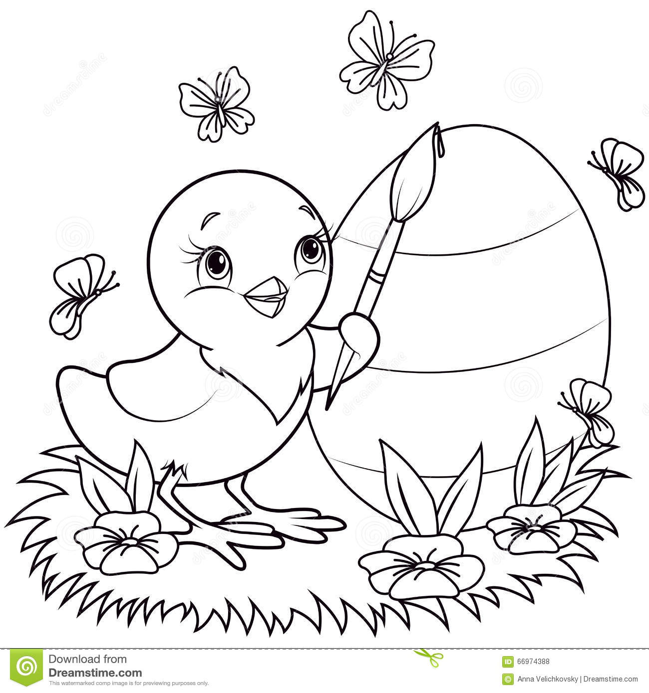 Easter Chicken Stock Vector Illustration Of Bird Free