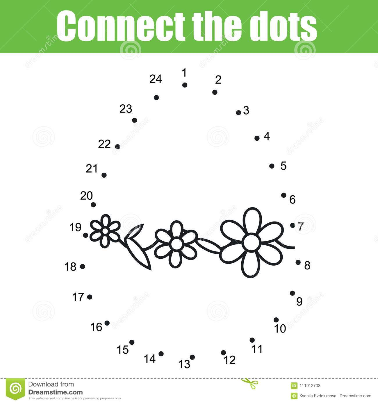 Easter Game Connect The Dots By Numbers Children Educational Game Printable Worksheet