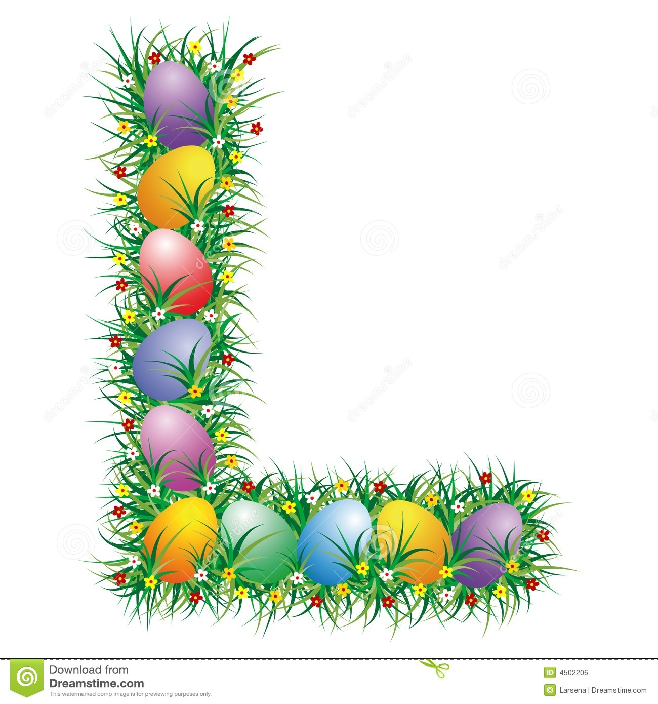 Easter Letter L Stock Vector Image Of Season Text Discovery