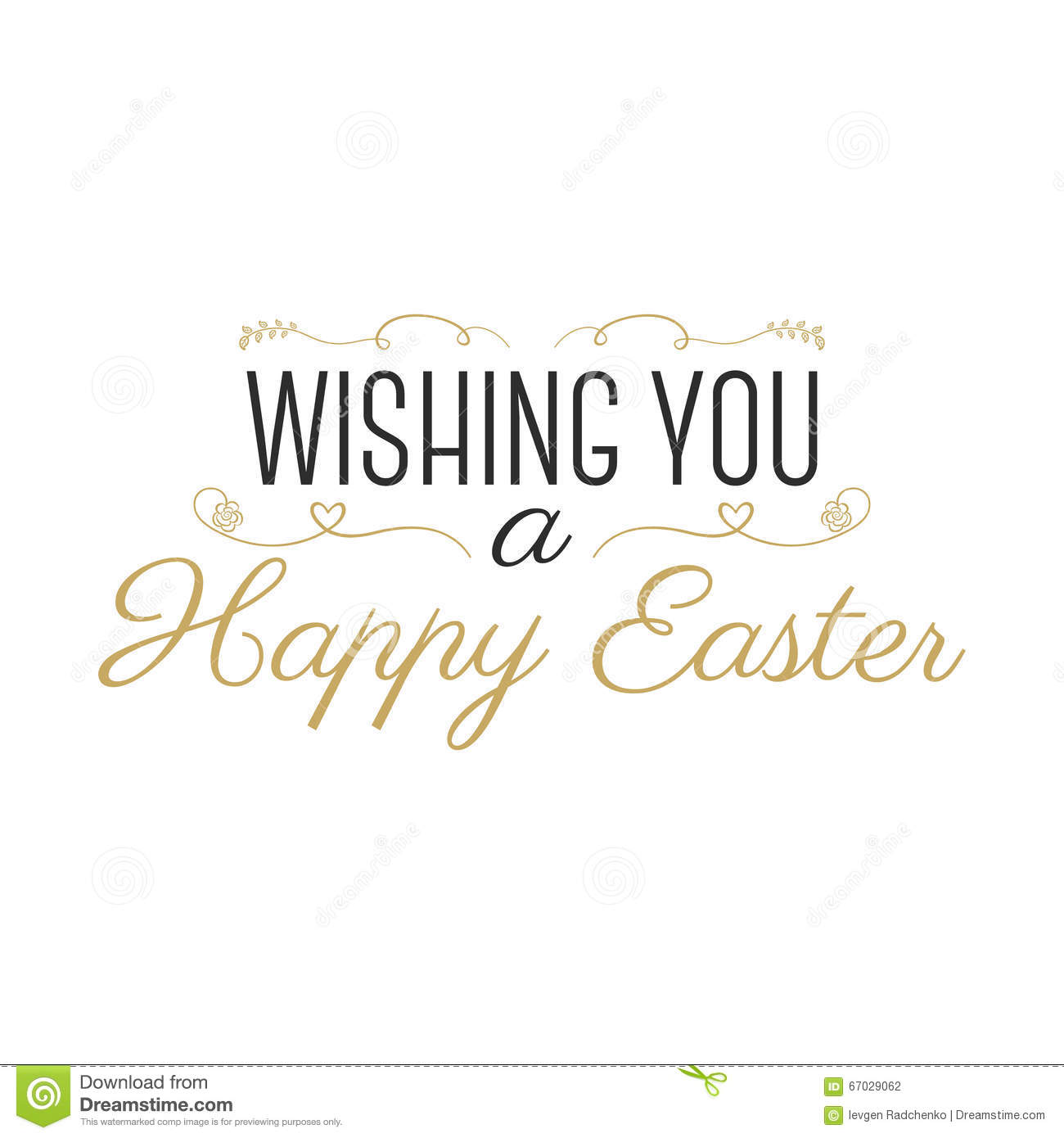 Easter Wish Sign Happy Easter Easter Wishes Overlay Lettering Label Design Retro Holiday