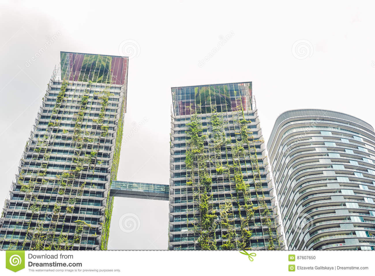 Eco Architecture Green Skysc R Building With Plants