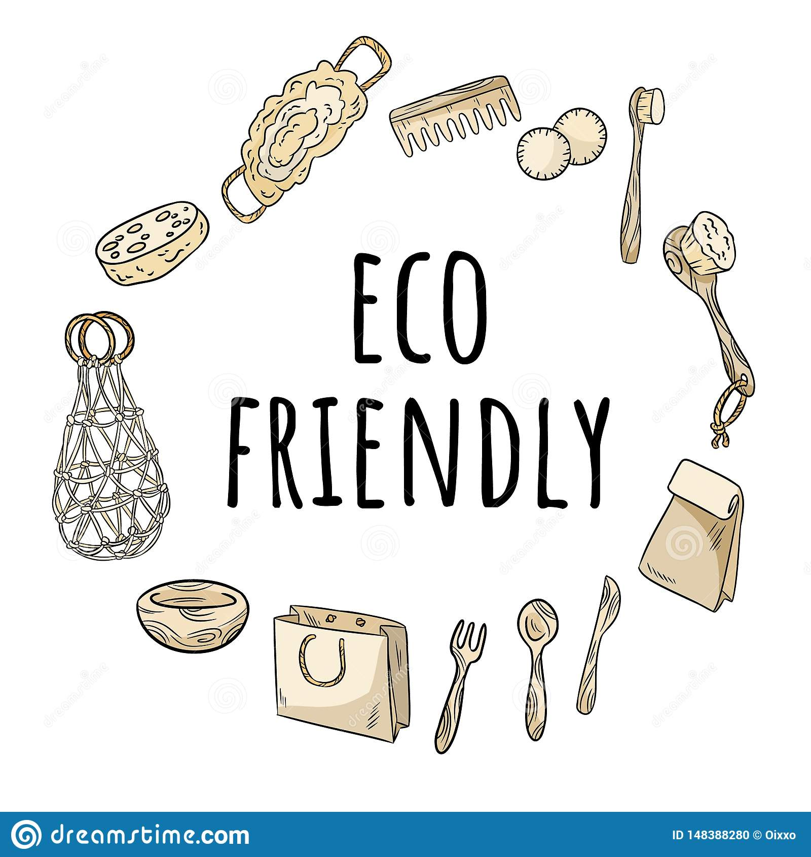 Eco Friendly Wreath Of No Plastic Items Ecological And