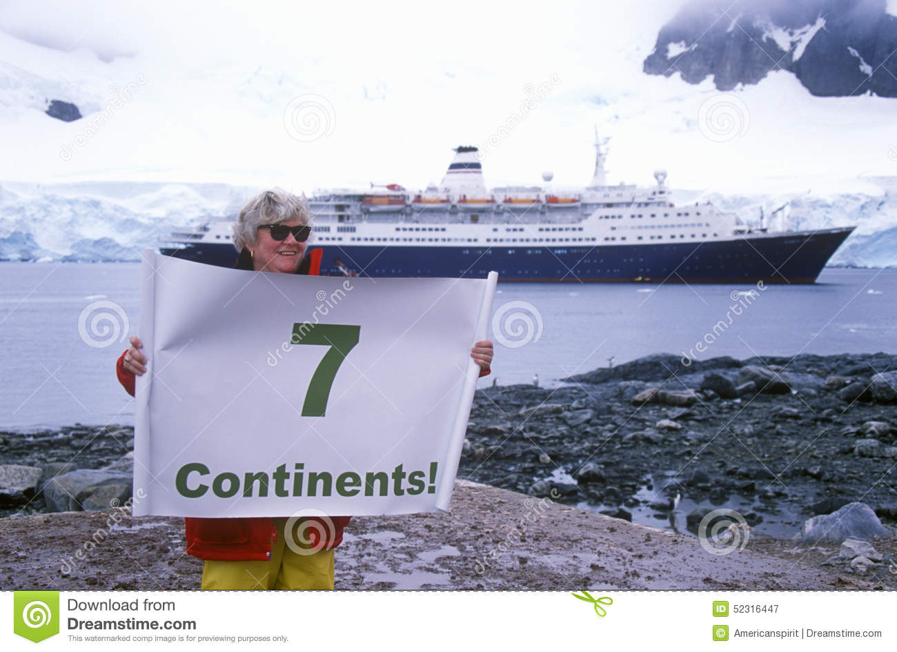 Ecological Tourist From Cruise Ship Marco Polo With Seven