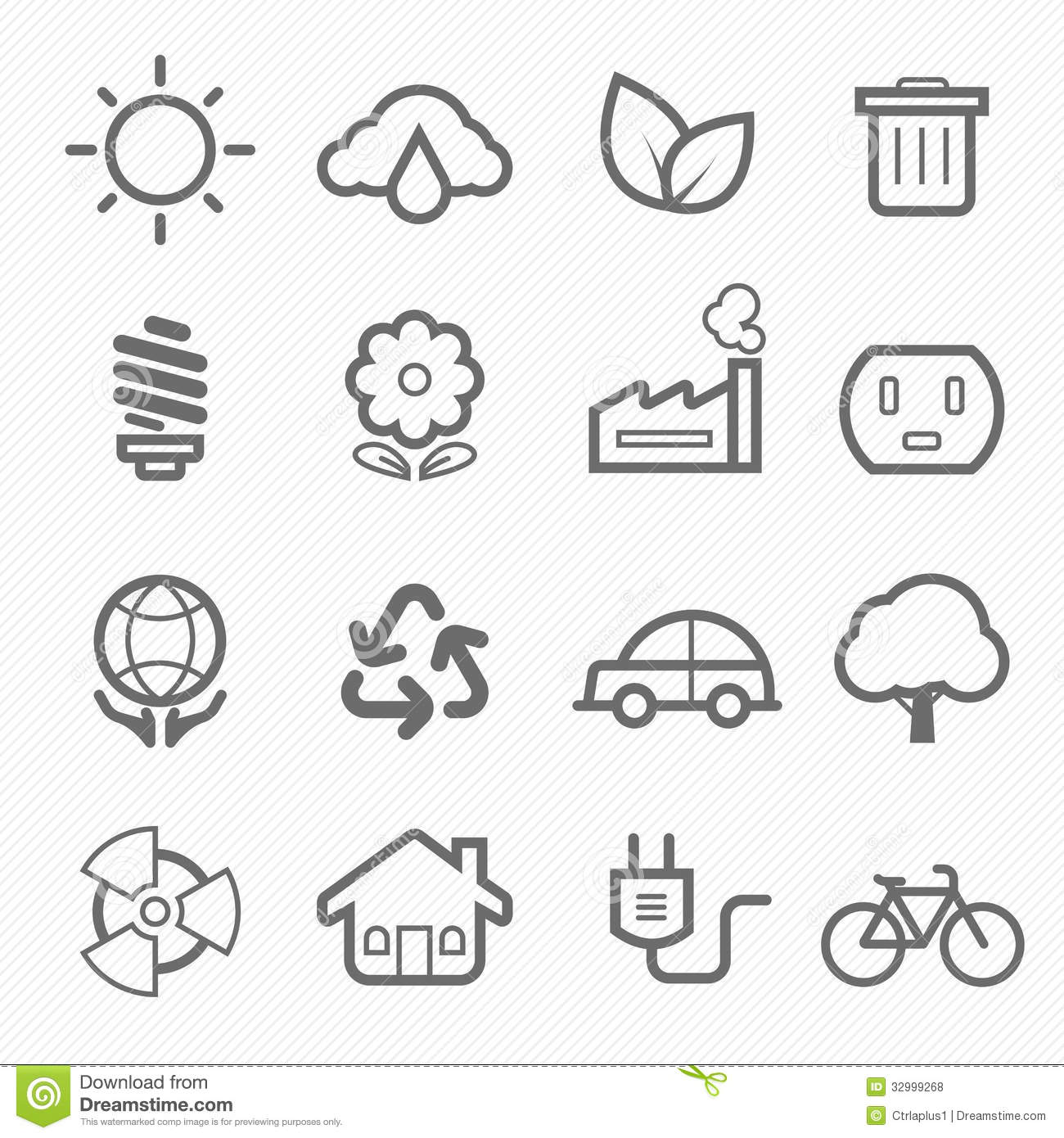 Home Outline Stroke Symbol Icons Royalty Free Stock