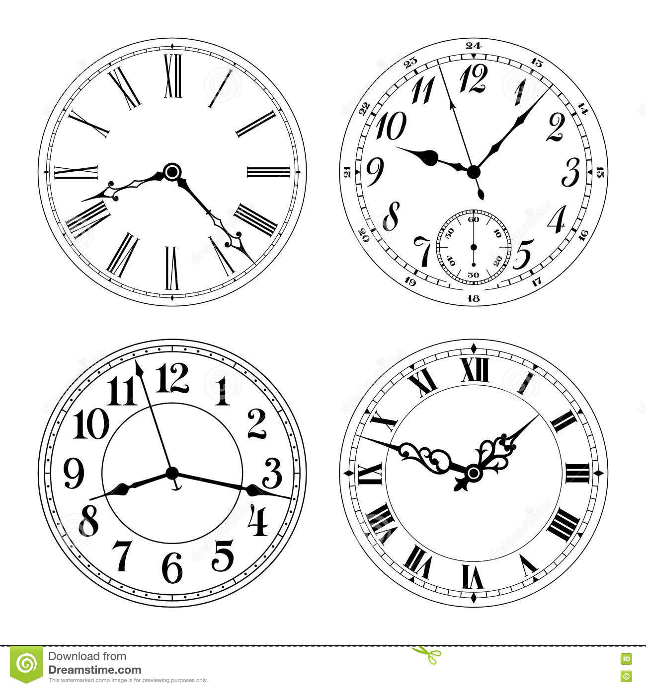 Face Clocks Worksheet Editable