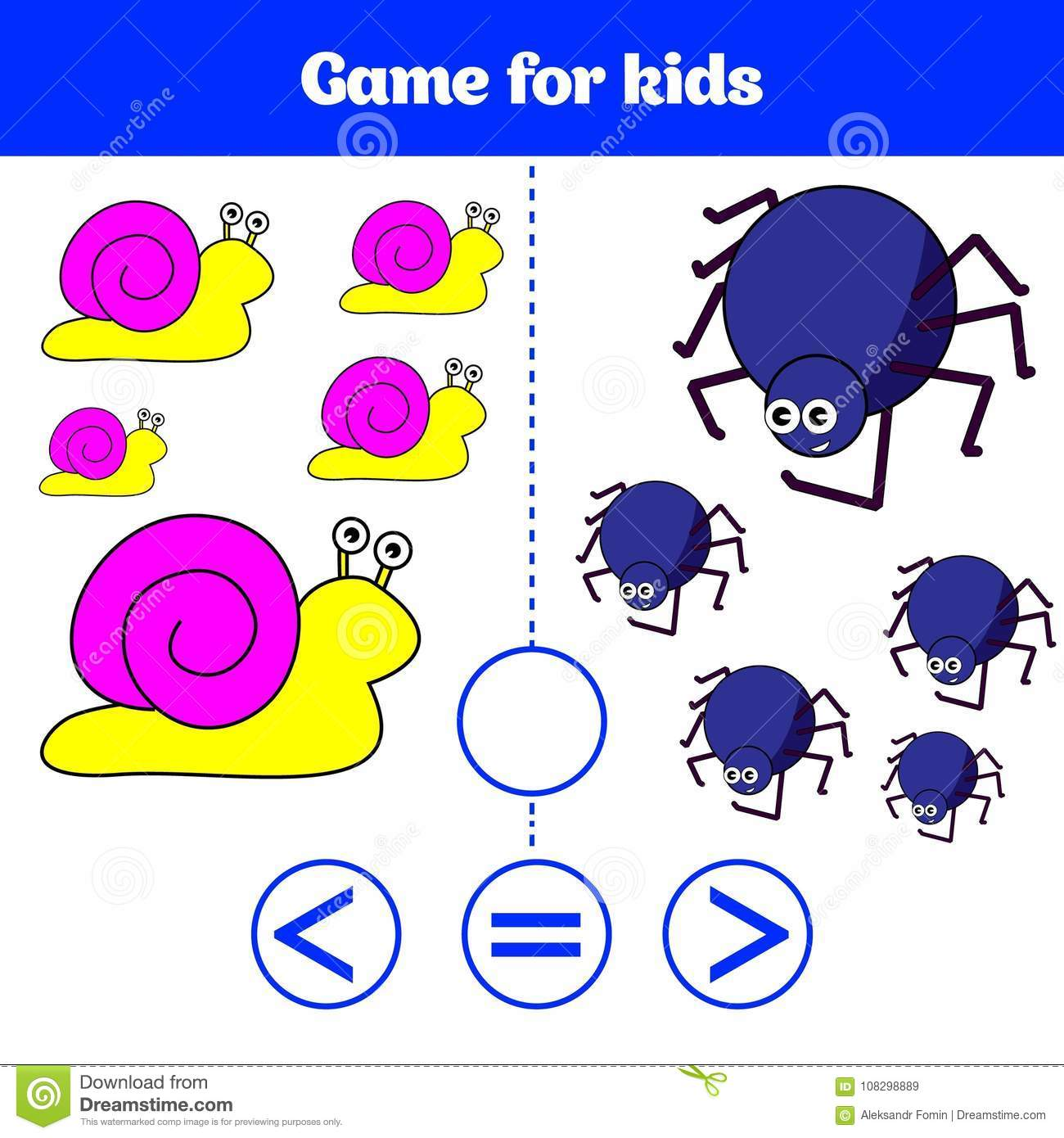 Education Logic Game For Preschool Kids Choose The