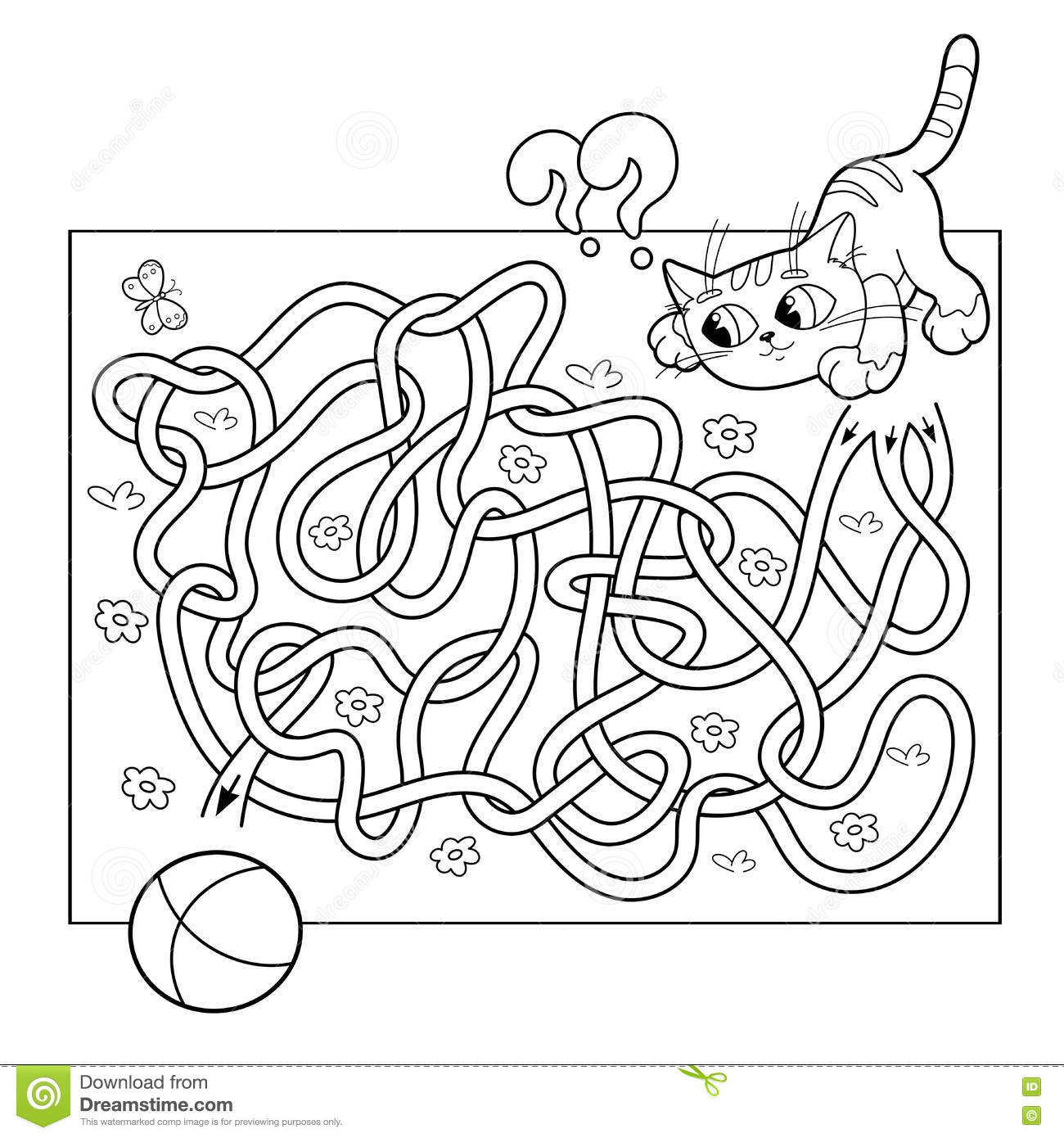 Kids Mazes Mouse And The Apple Coloring Page