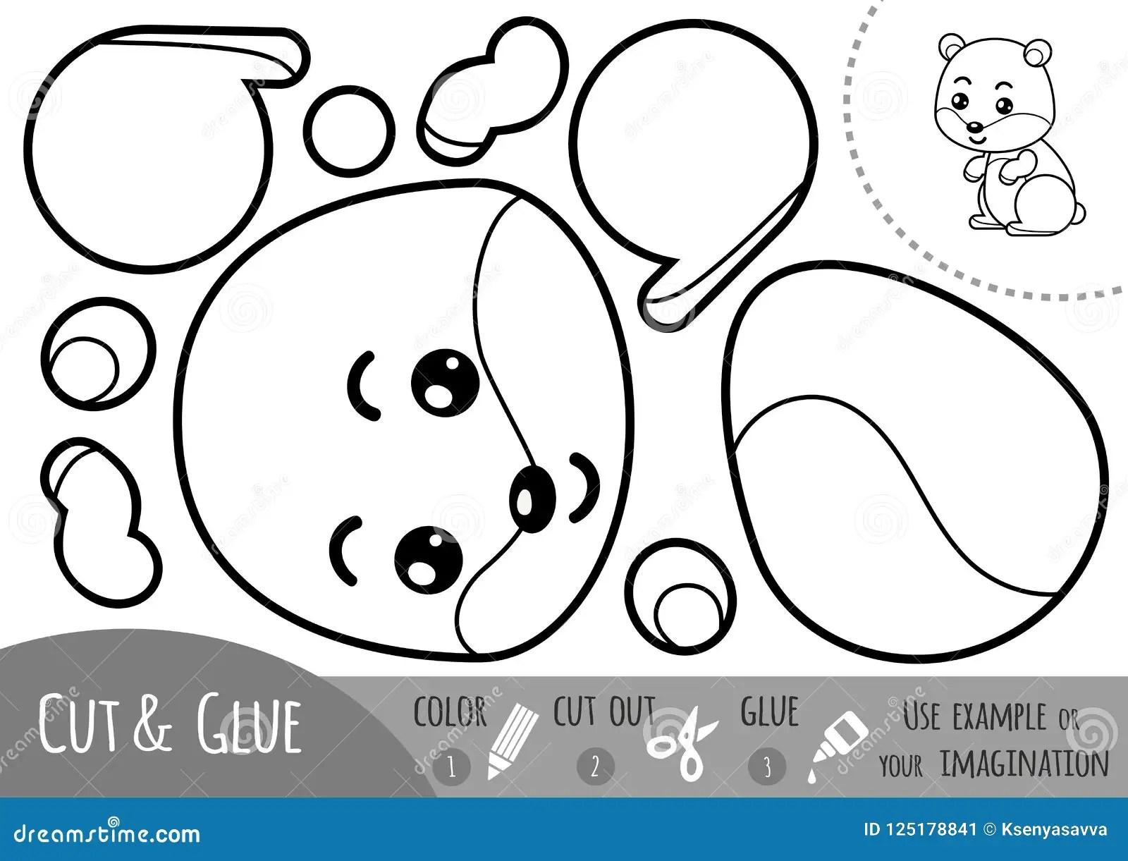 Education Paper Game For Children Hamster Stock Vector