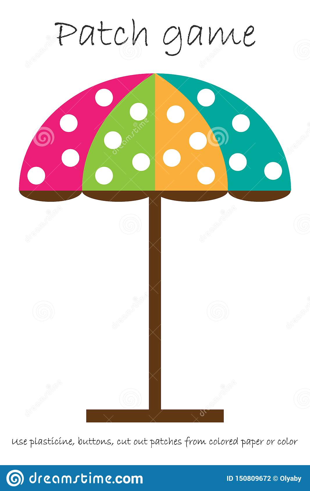 Education Patch Game Beach Umbrella For Children To