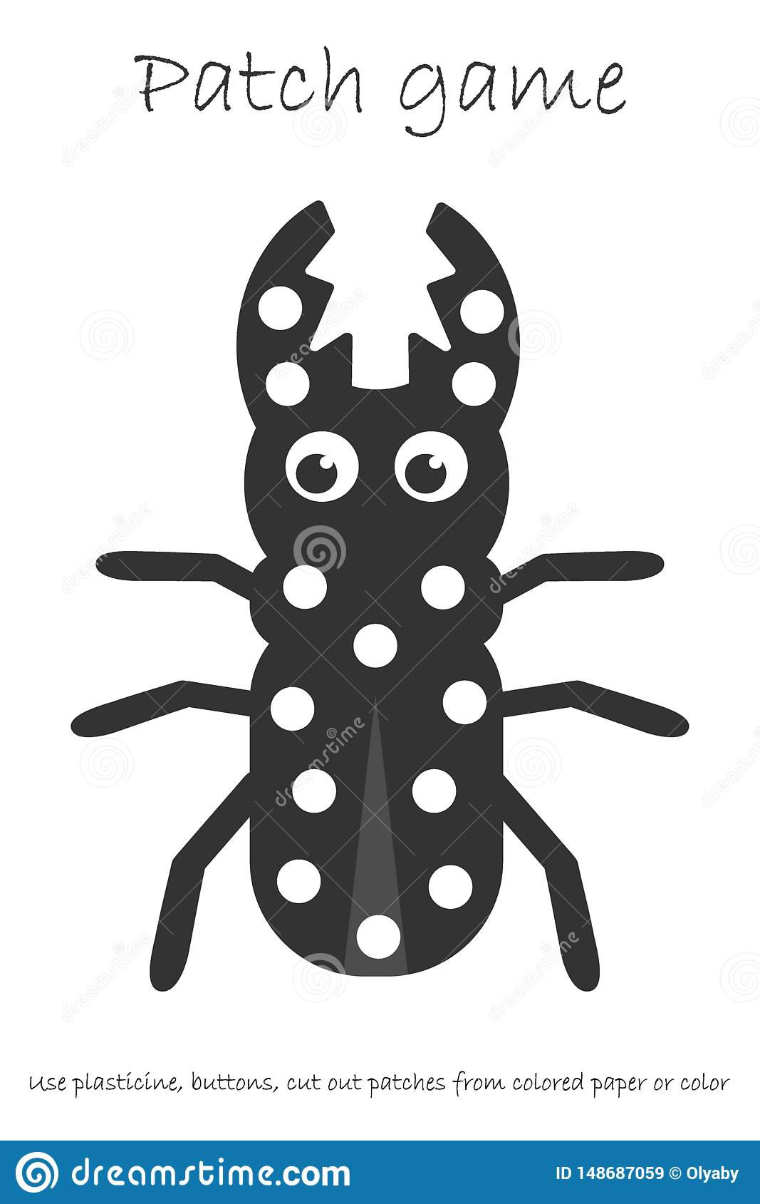 Education Patch Game Beetle For Children To Develop Motor