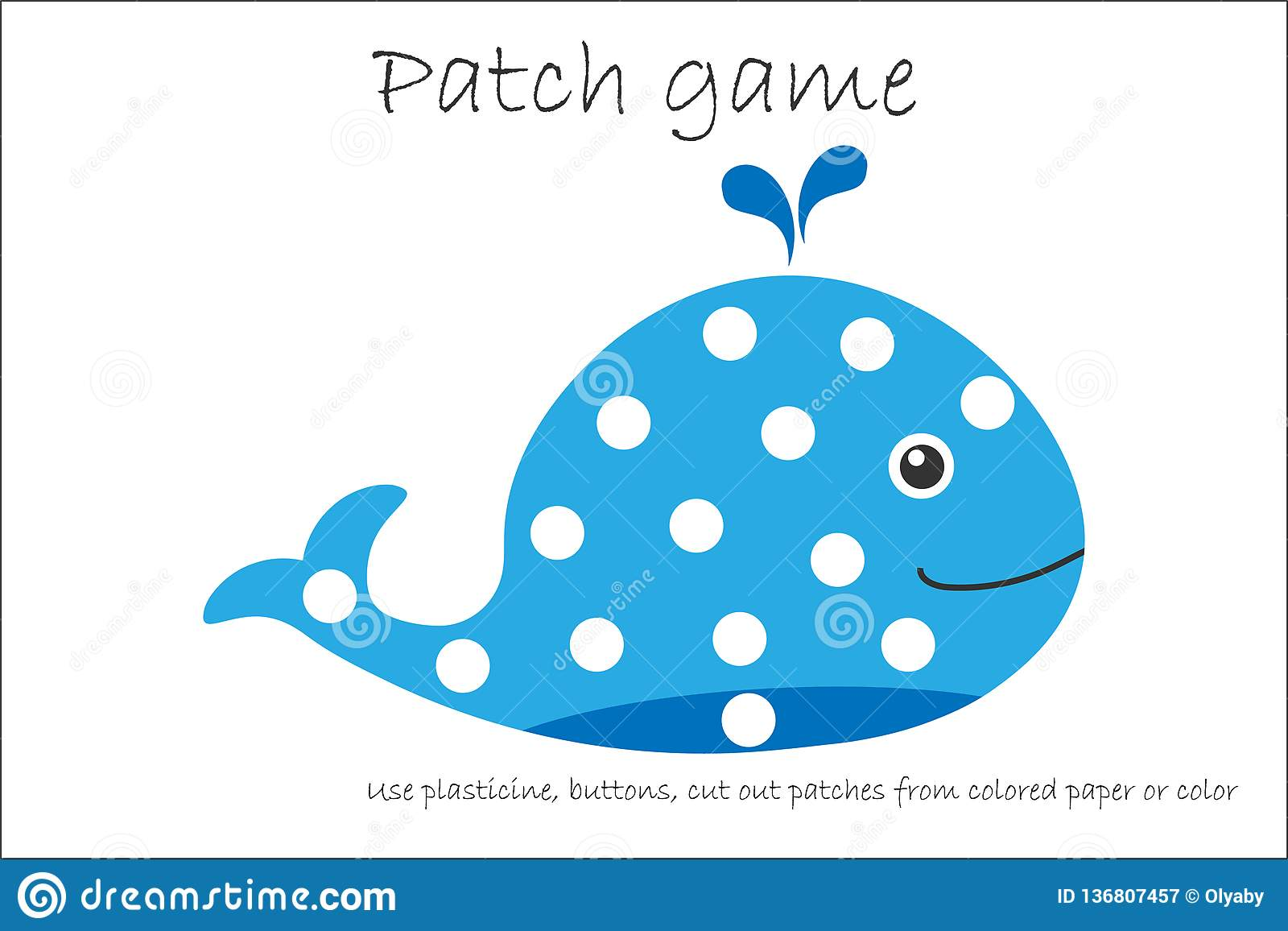 Education Patch Game Whale For Children To Develop Motor