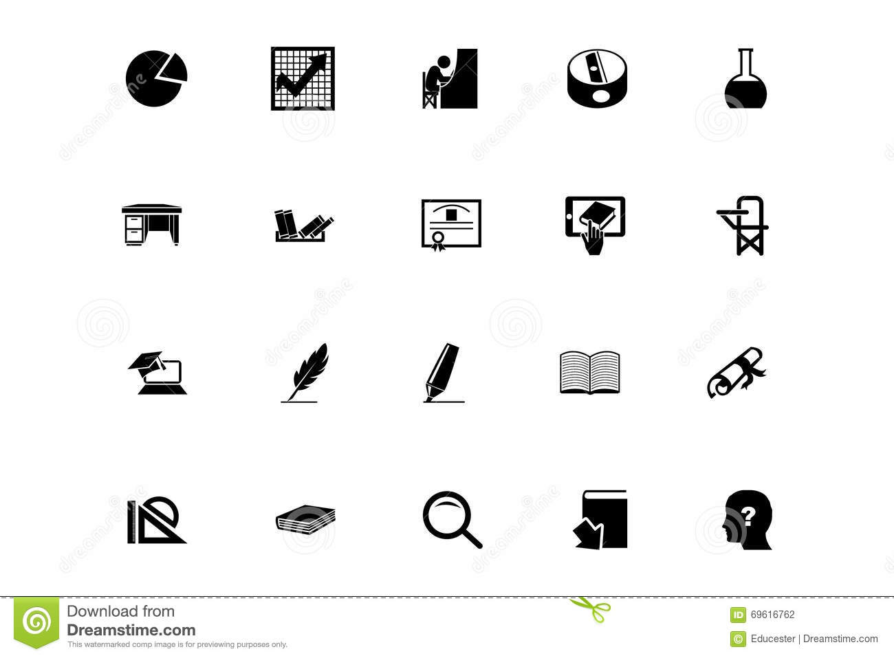 Education Vector Icons 5 Stock Illustration