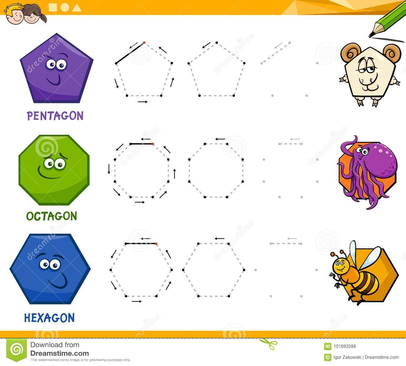 Drawing With Shapes Worksheet