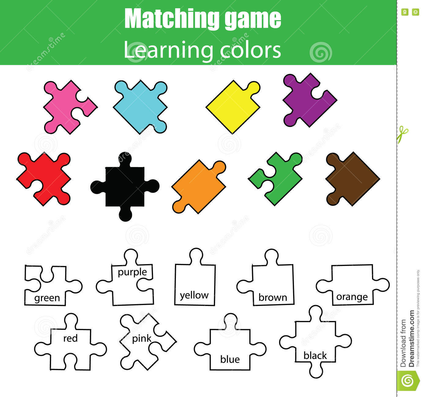 Educational Children Game Kids Activity Learning Colors