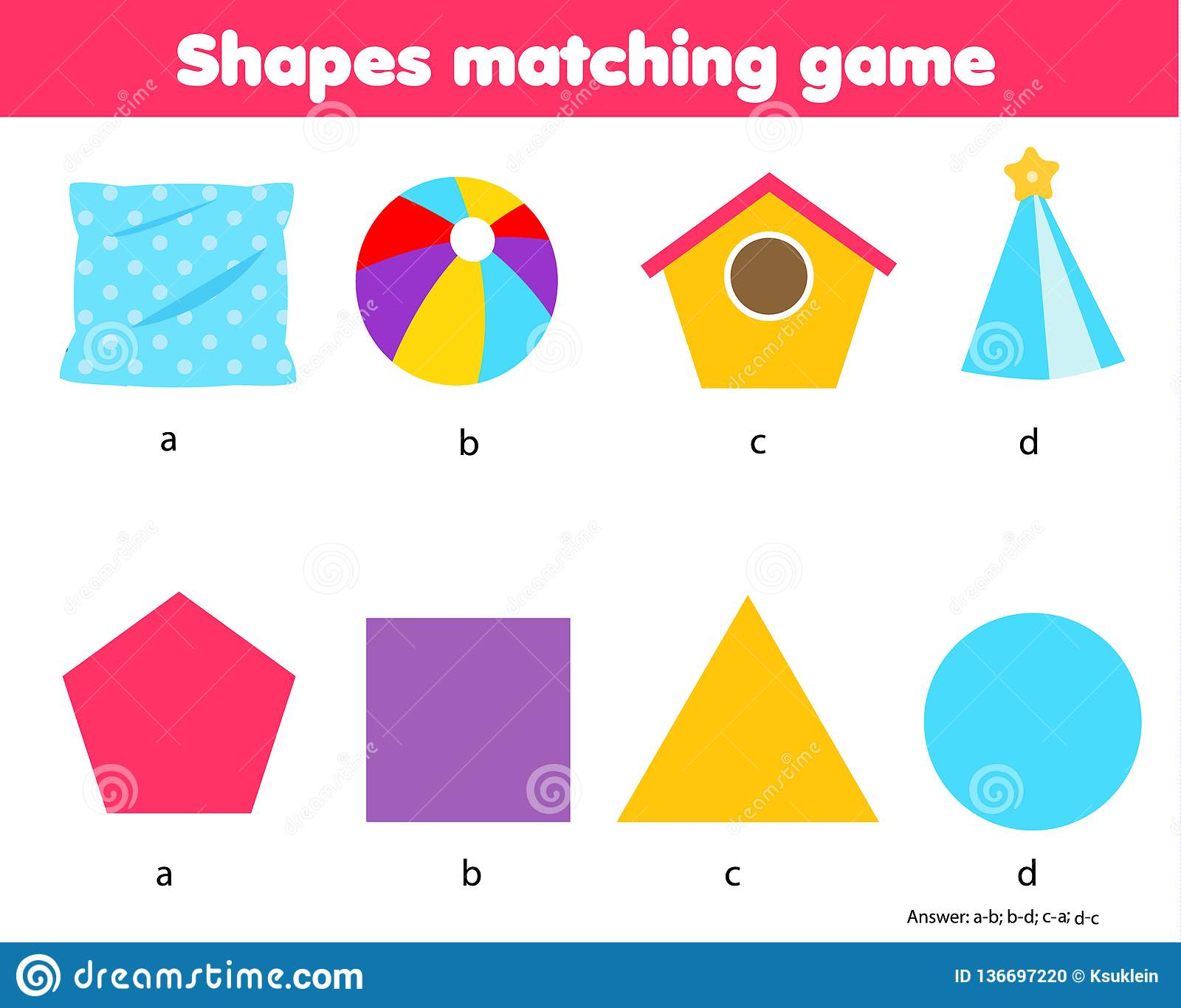 Educational Children Game Matching Game Worksheet For