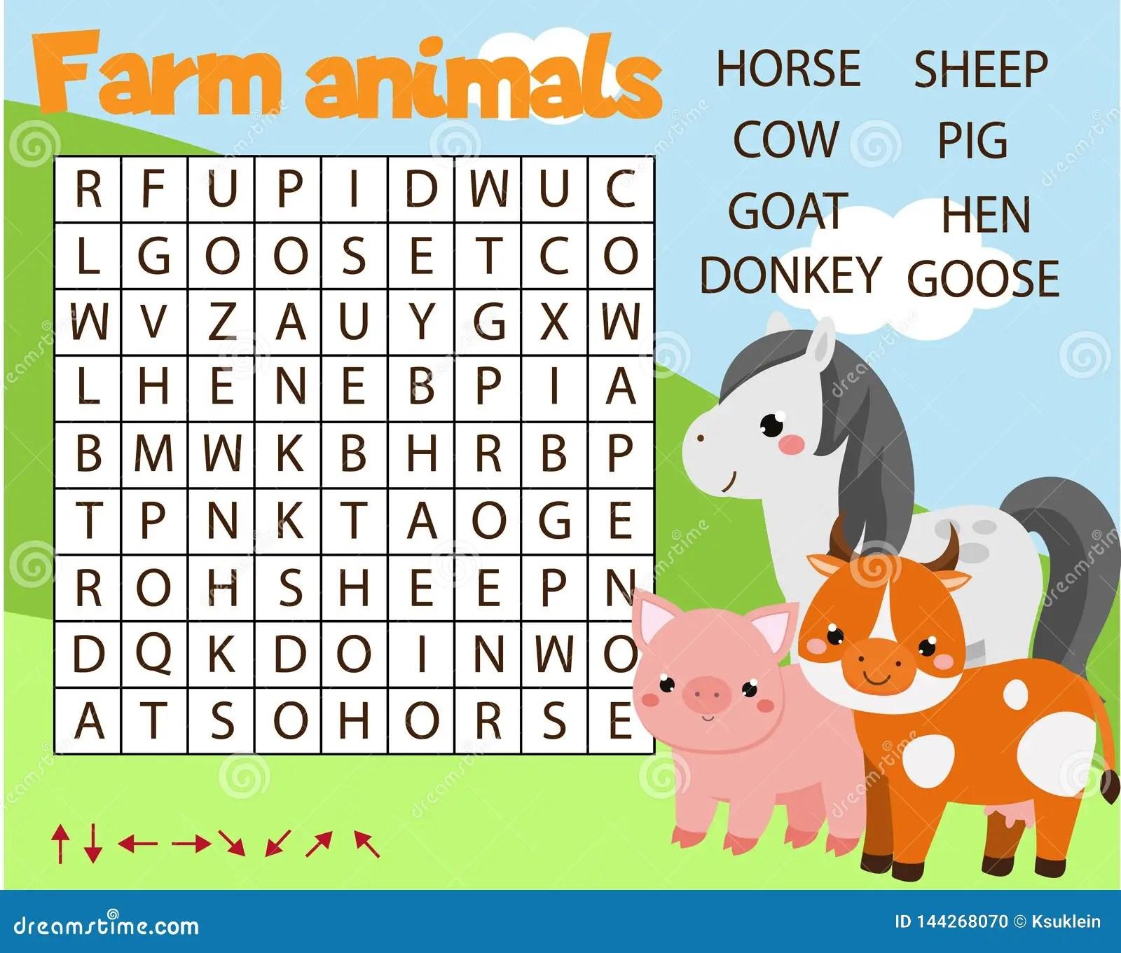 Preschool Worksheet Of Horses