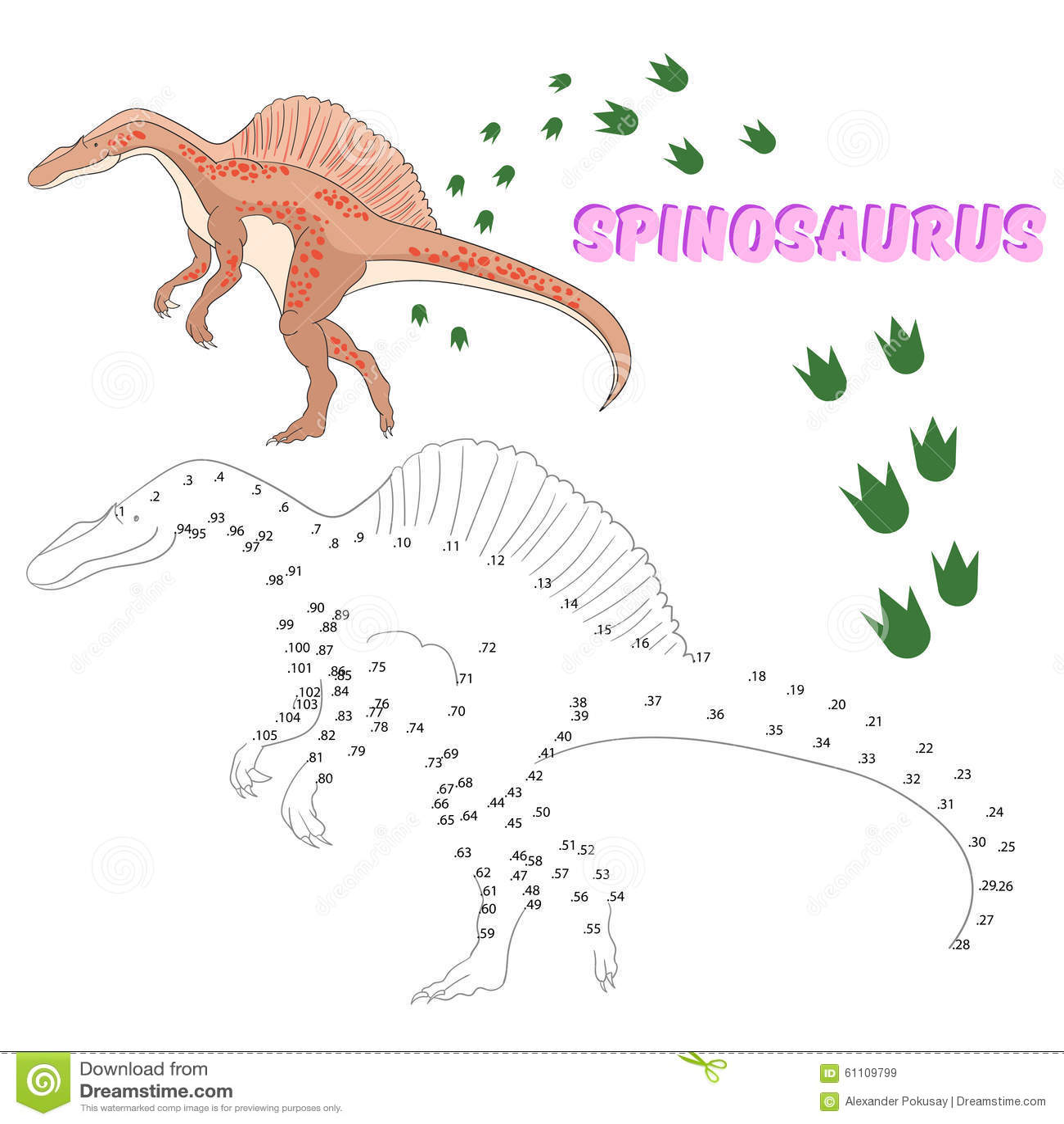 Worksheet Dot To Dot Dinosaur