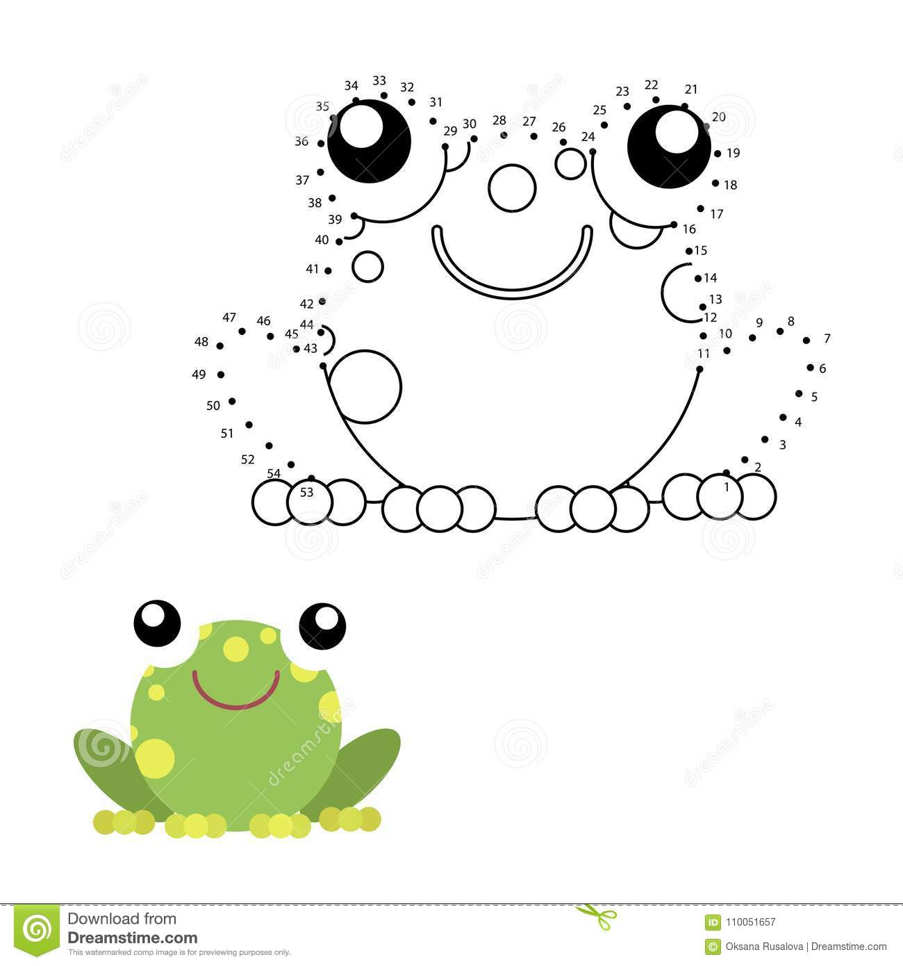 Educational Game For Kids Dot To Dot Stock Vector
