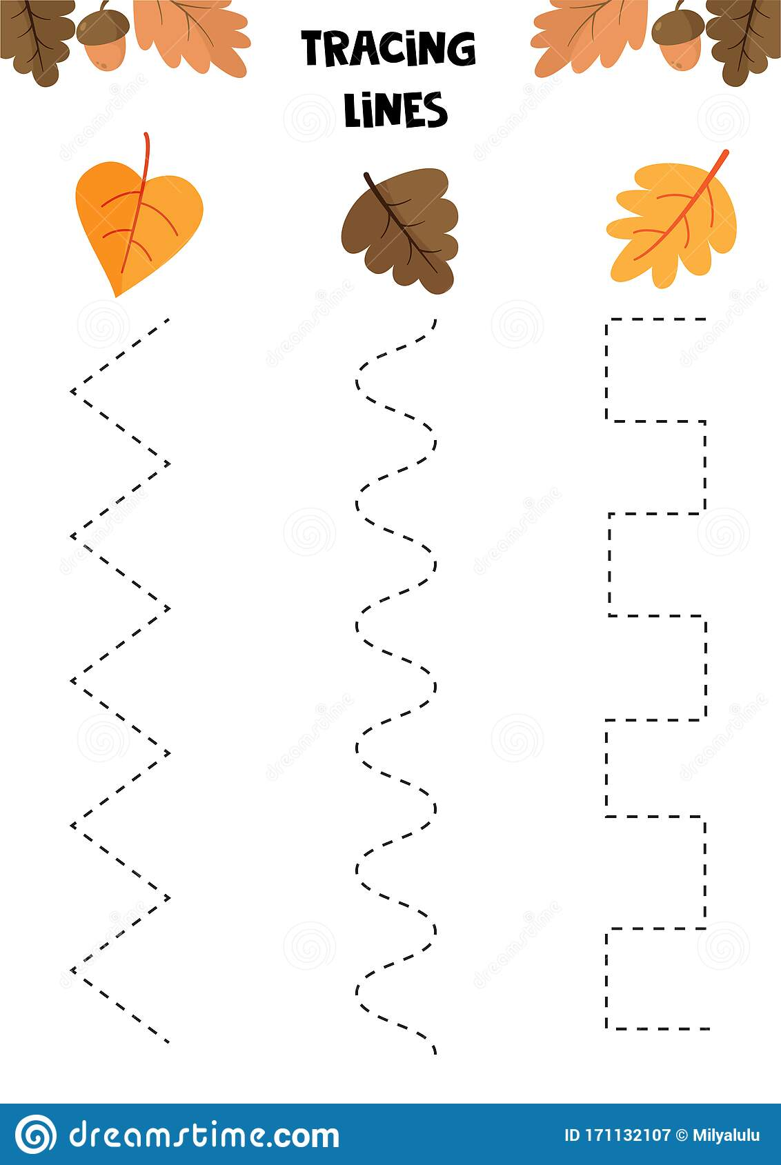 Educational Game For Kids Handwriting Practice Autumn