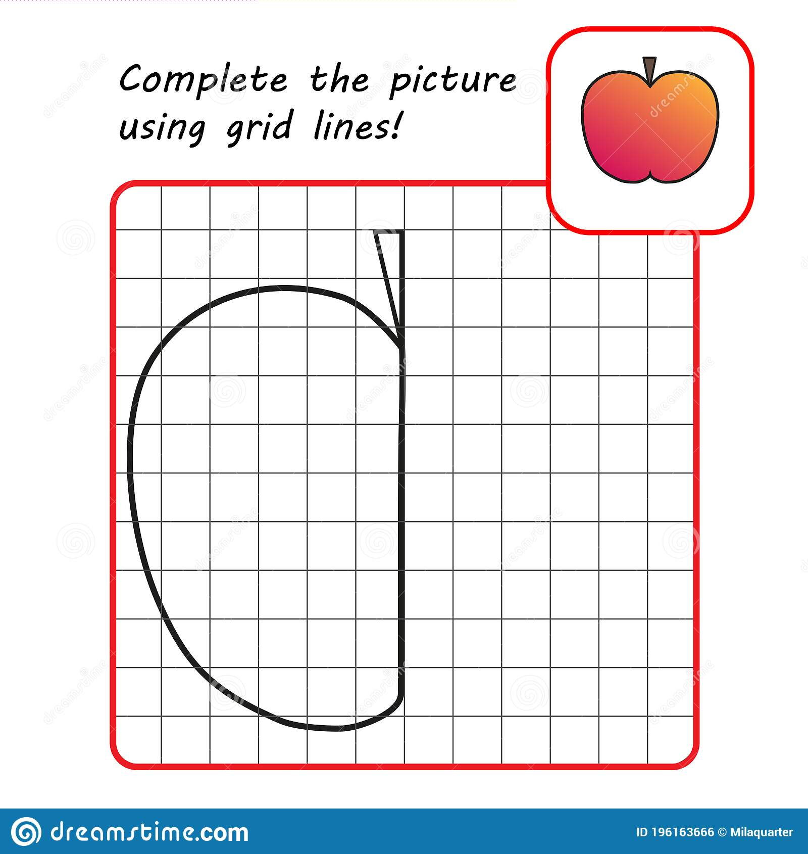 Educational Game For Kids Simple Exercise Drawing Using