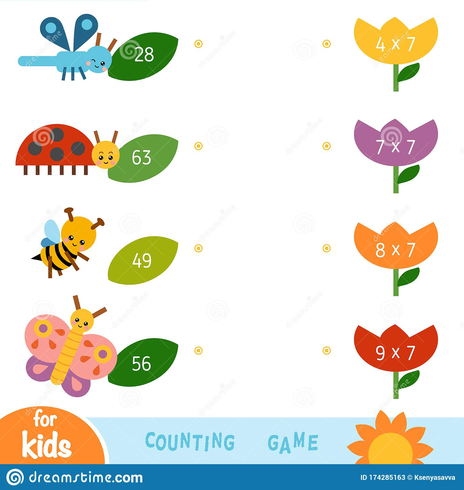 Educational A Mathematical Game Worksheet With