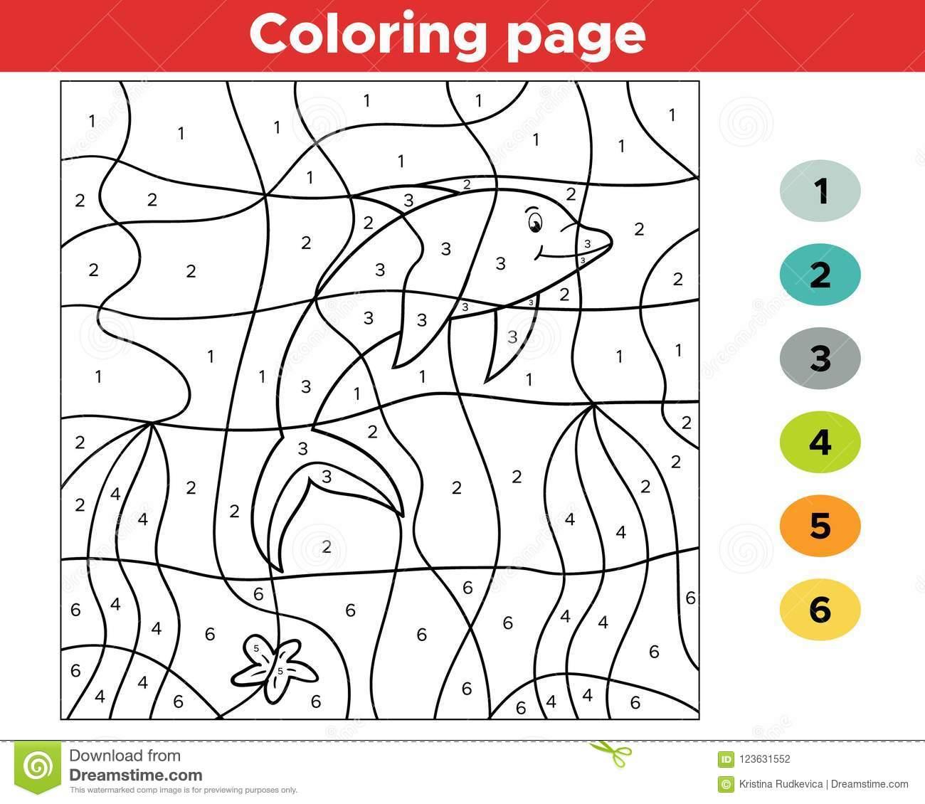 Educational Number Coloring Page For Preschool Kids