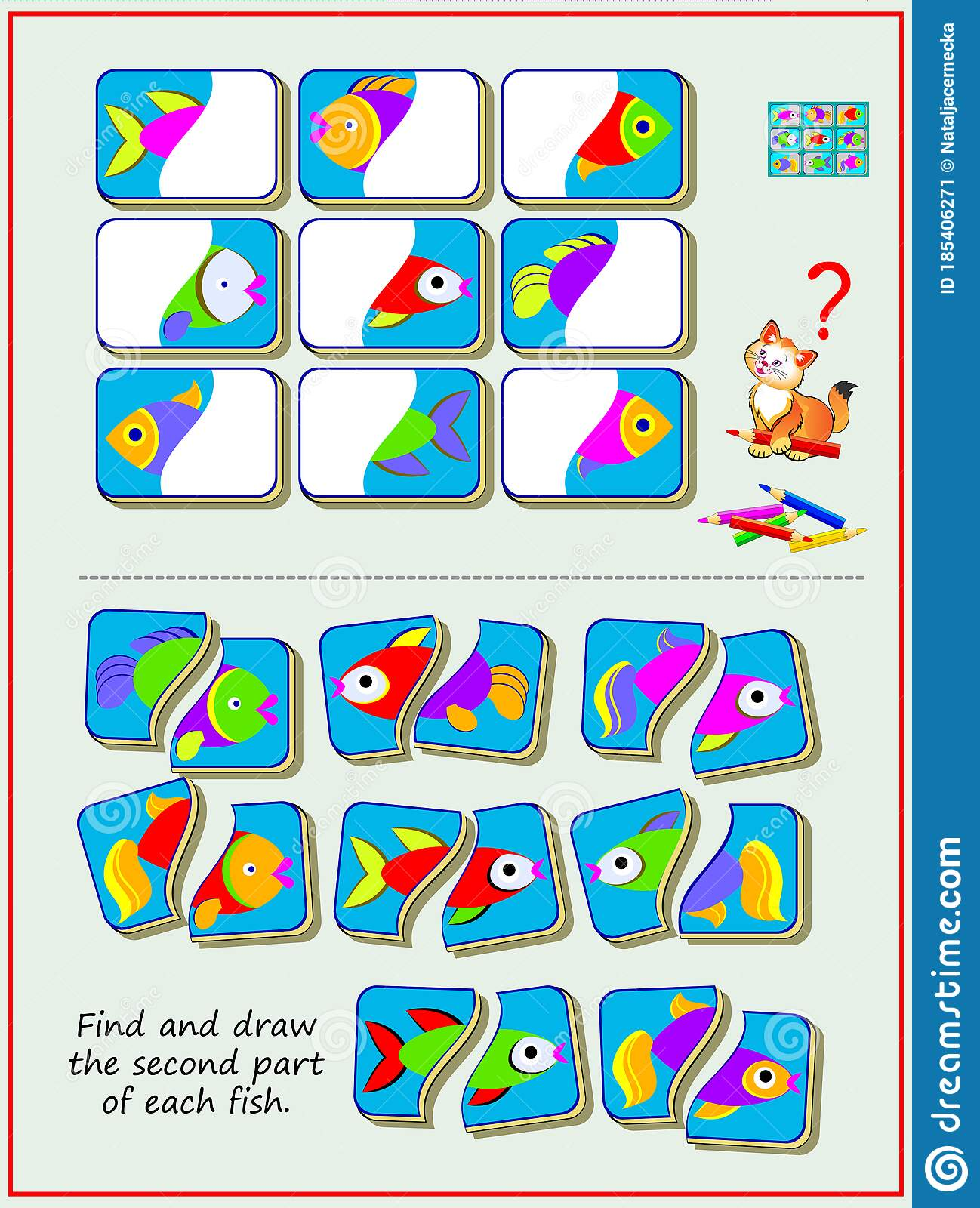 Educational Page For Kids Textbook Find And Draw The