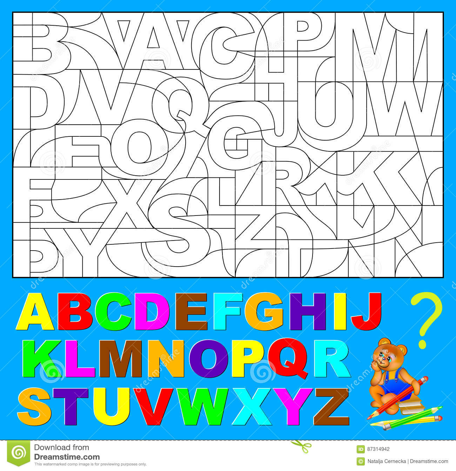 English Alphabet For Children Royalty Free Illustration