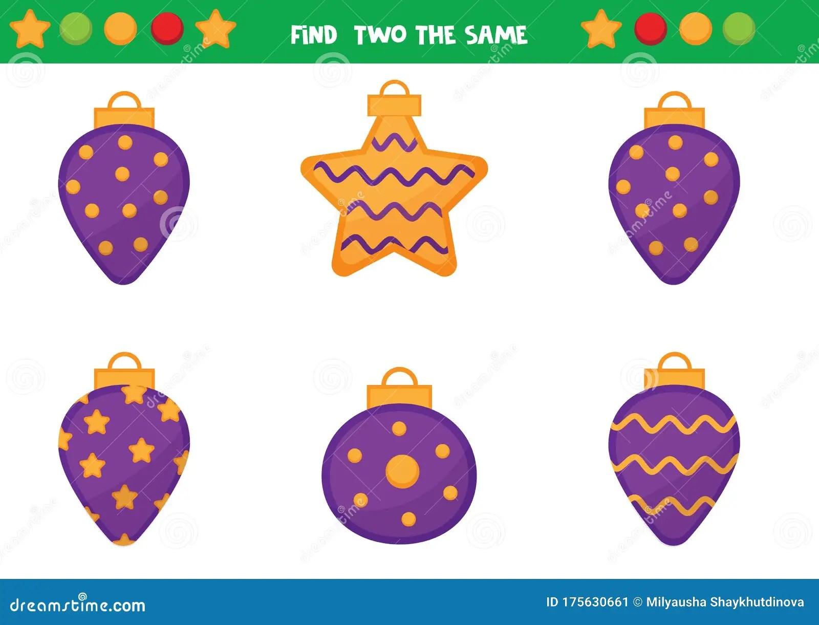 Educational Worksheet For Preschool Kids Find Two The