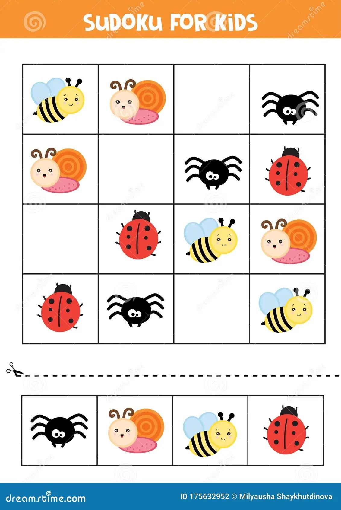 Educational Worksheet For Preschool Kids Sudoku For Kids