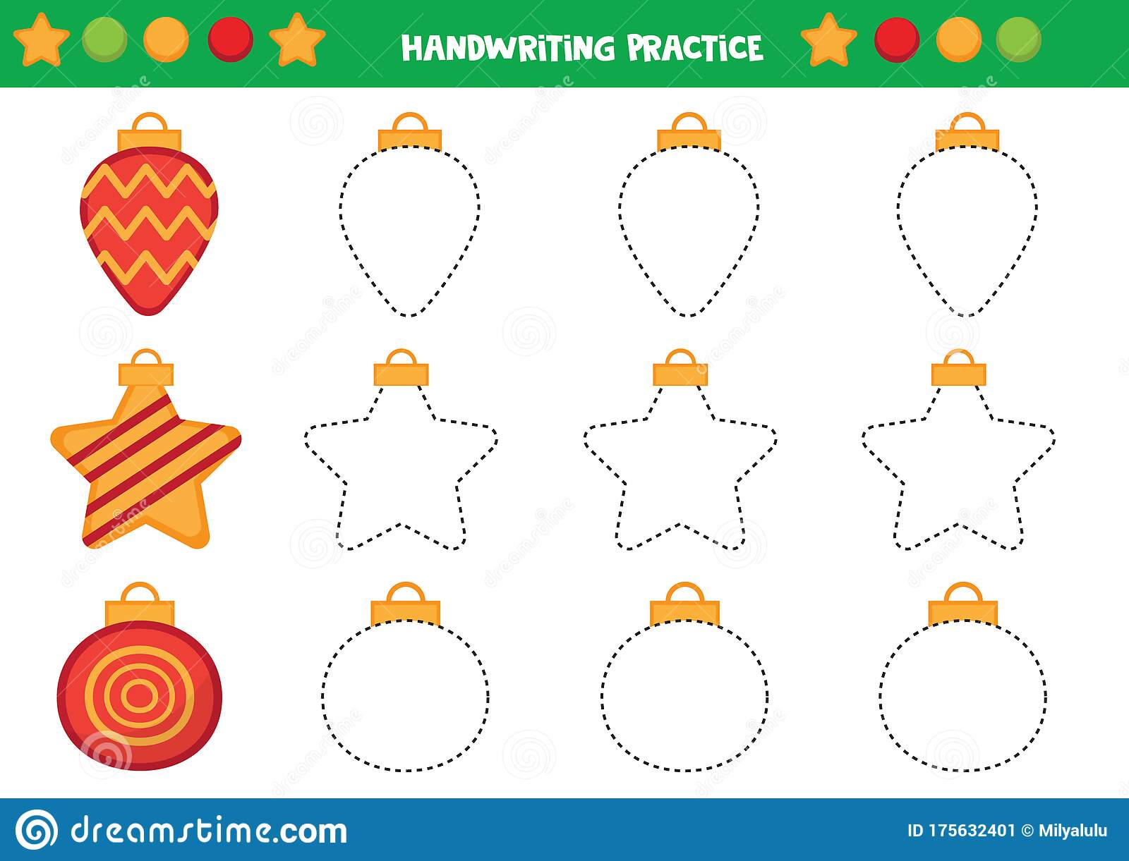 Educational Worksheet For Preschool Kids Trace The