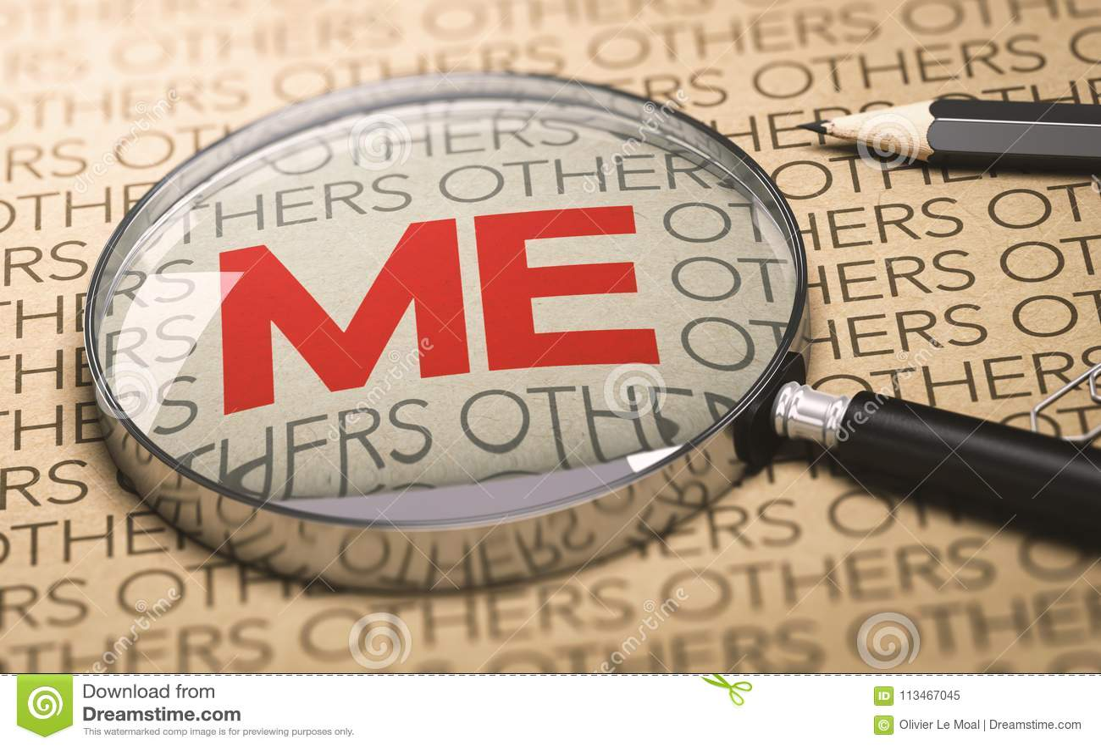 Egocentric Or Egoistic Person Concept Stock Illustration