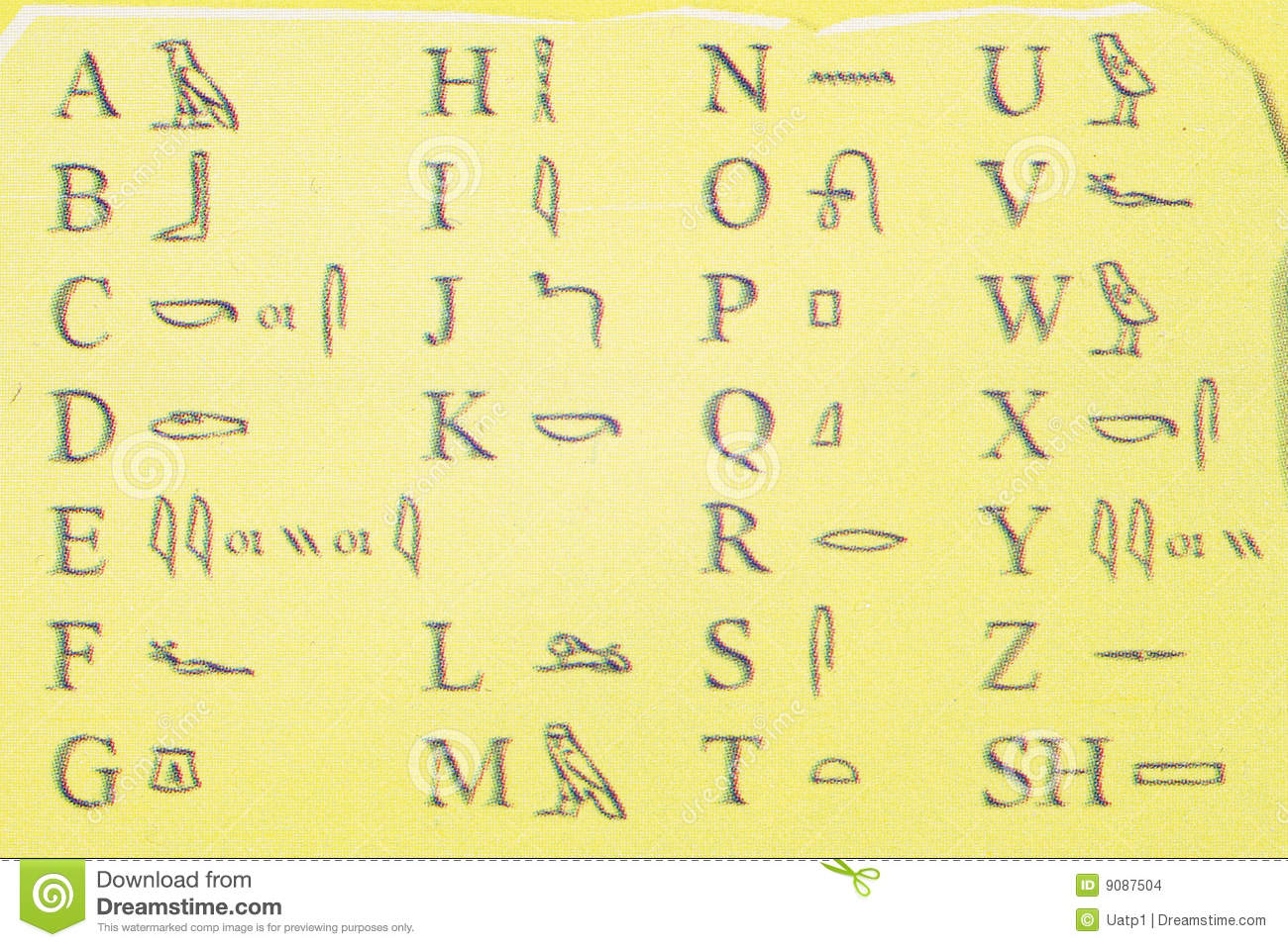 Ancient Egypt Hieroglyphics Alphabet