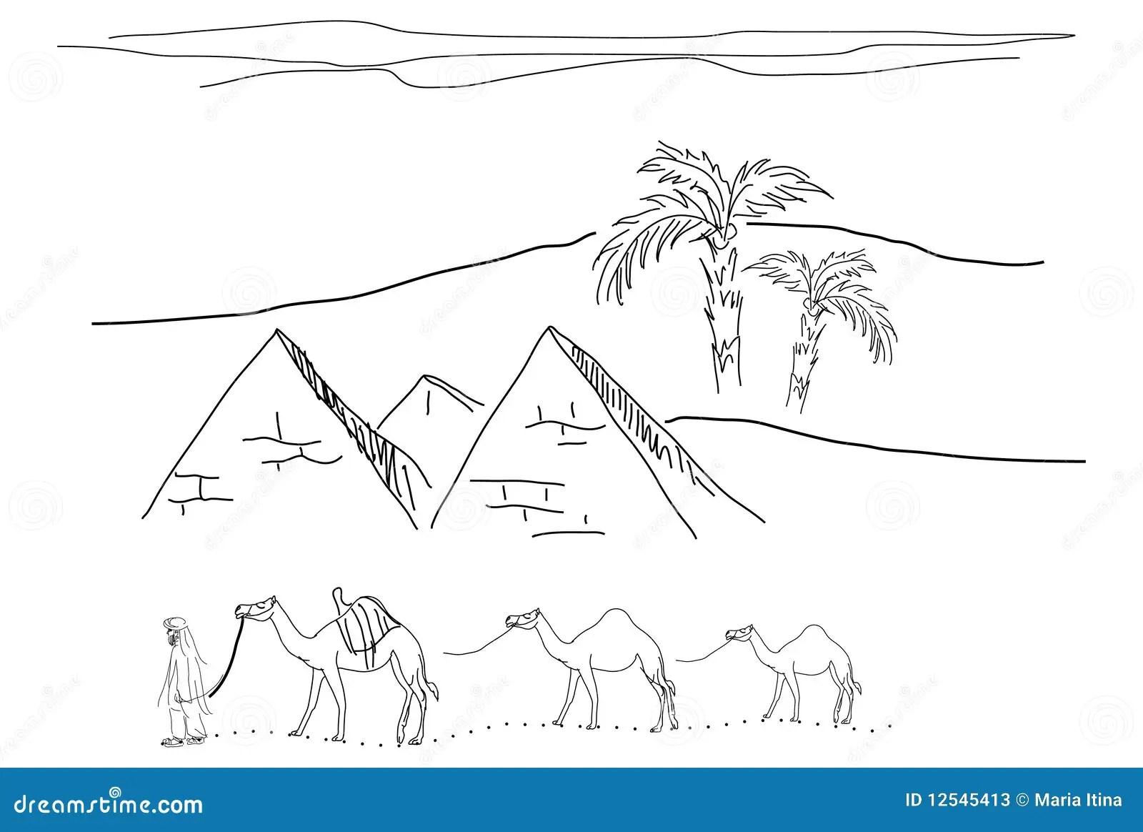 Egypt Sketch Stock Photos