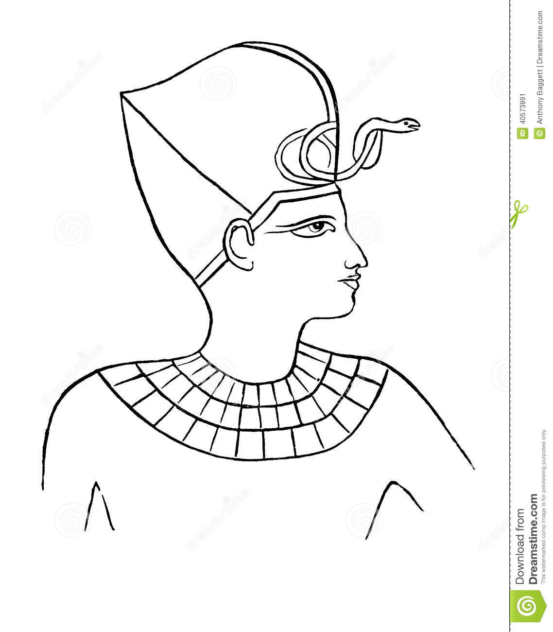 Egyptian Pharaoh Stock Illustration