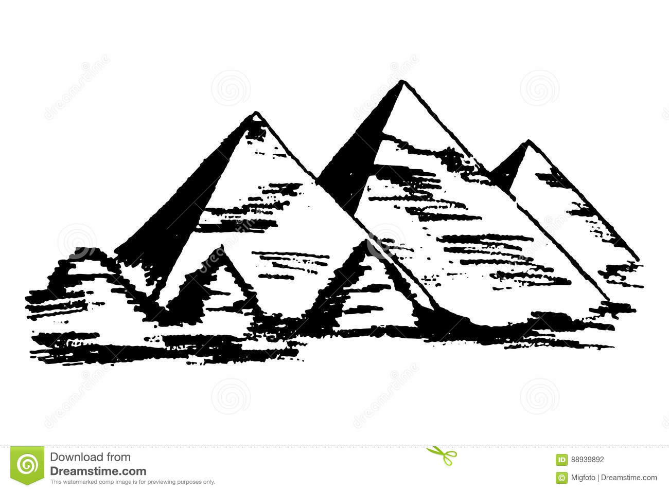 Egyptian Pyramids Vector Stock Vector Illustration Of