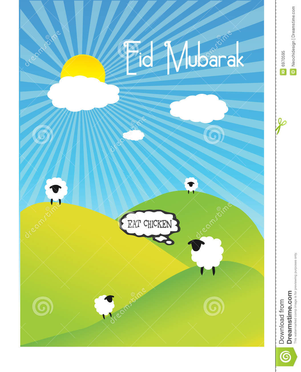 Eid Mubarak Stock Vector Illustration Of Holiday Muslim