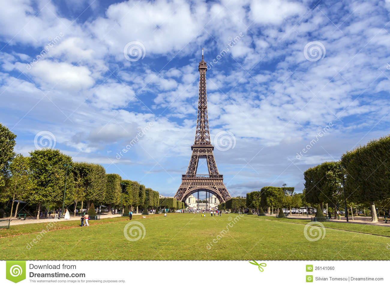 The Eiffel Tower In Paris Stock Photo Image Of Sightsee