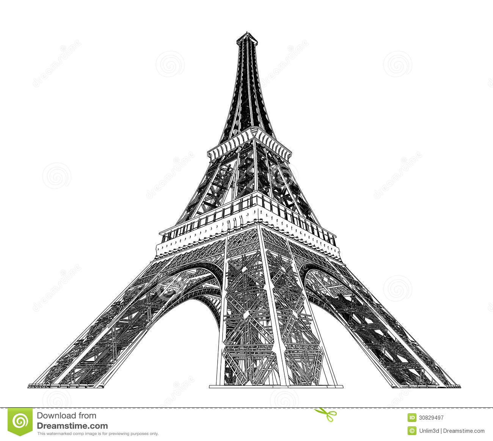 Eiffel Tower Vector Illustration Stock Vector